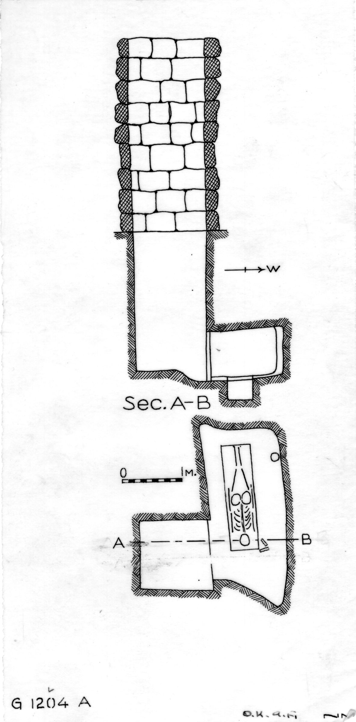 Maps and plans: G 1204, Shaft A