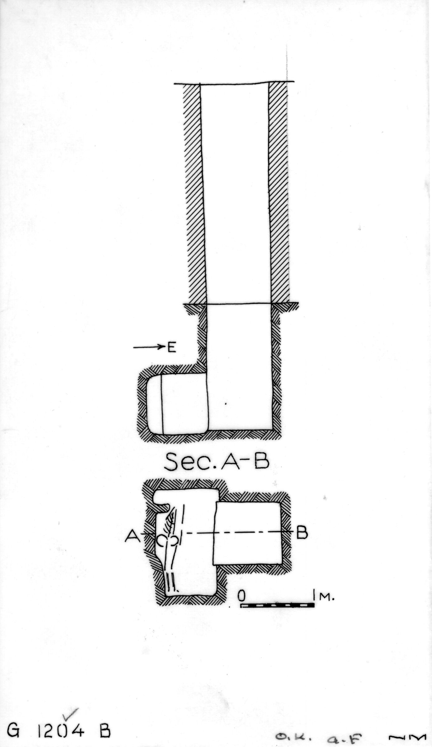 Maps and plans: G 1204, Shaft B