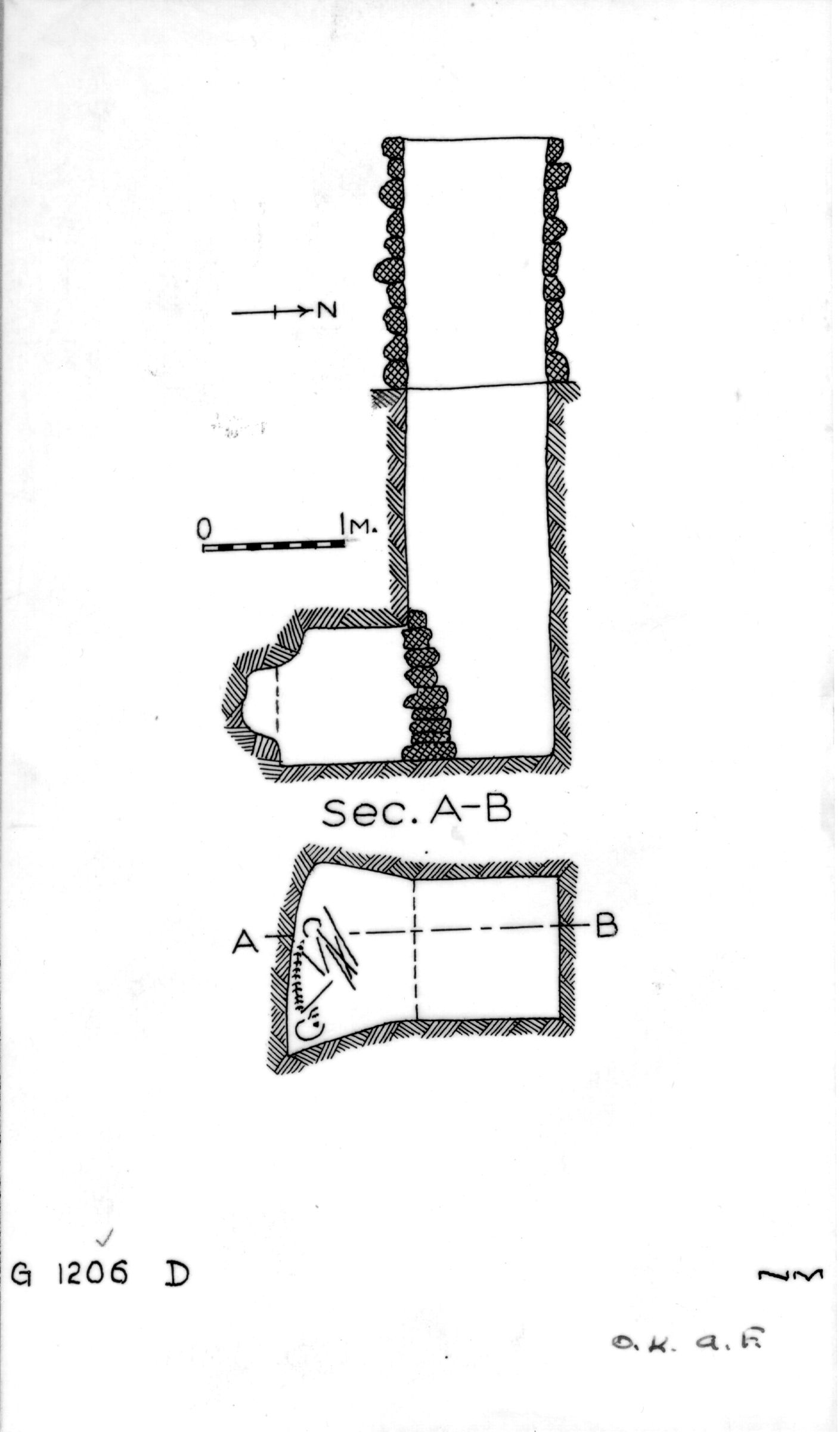 Maps and plans: G 1206, Shaft D