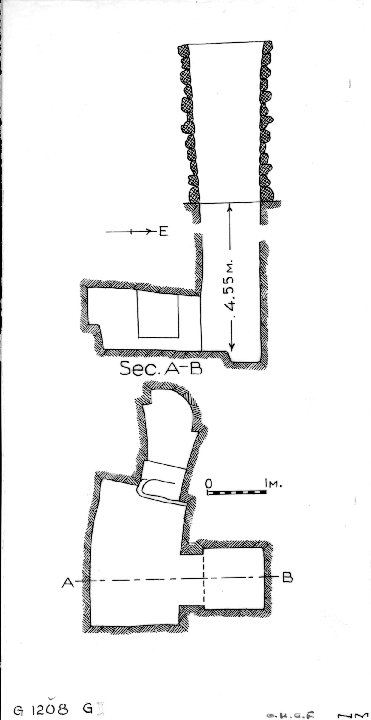 Maps and plans: G 1208, Shaft G