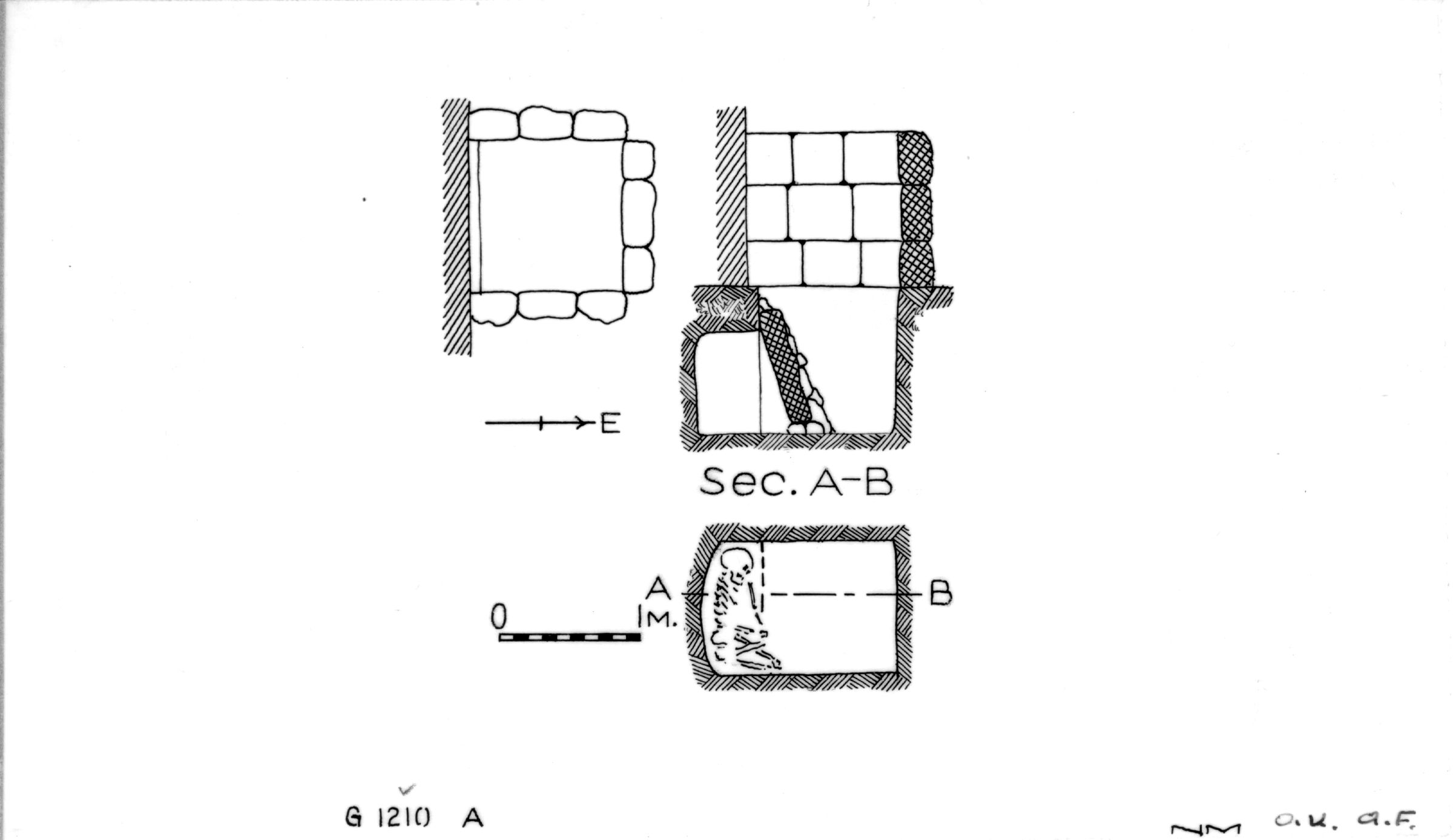 Maps and plans: G 1210, Shaft A