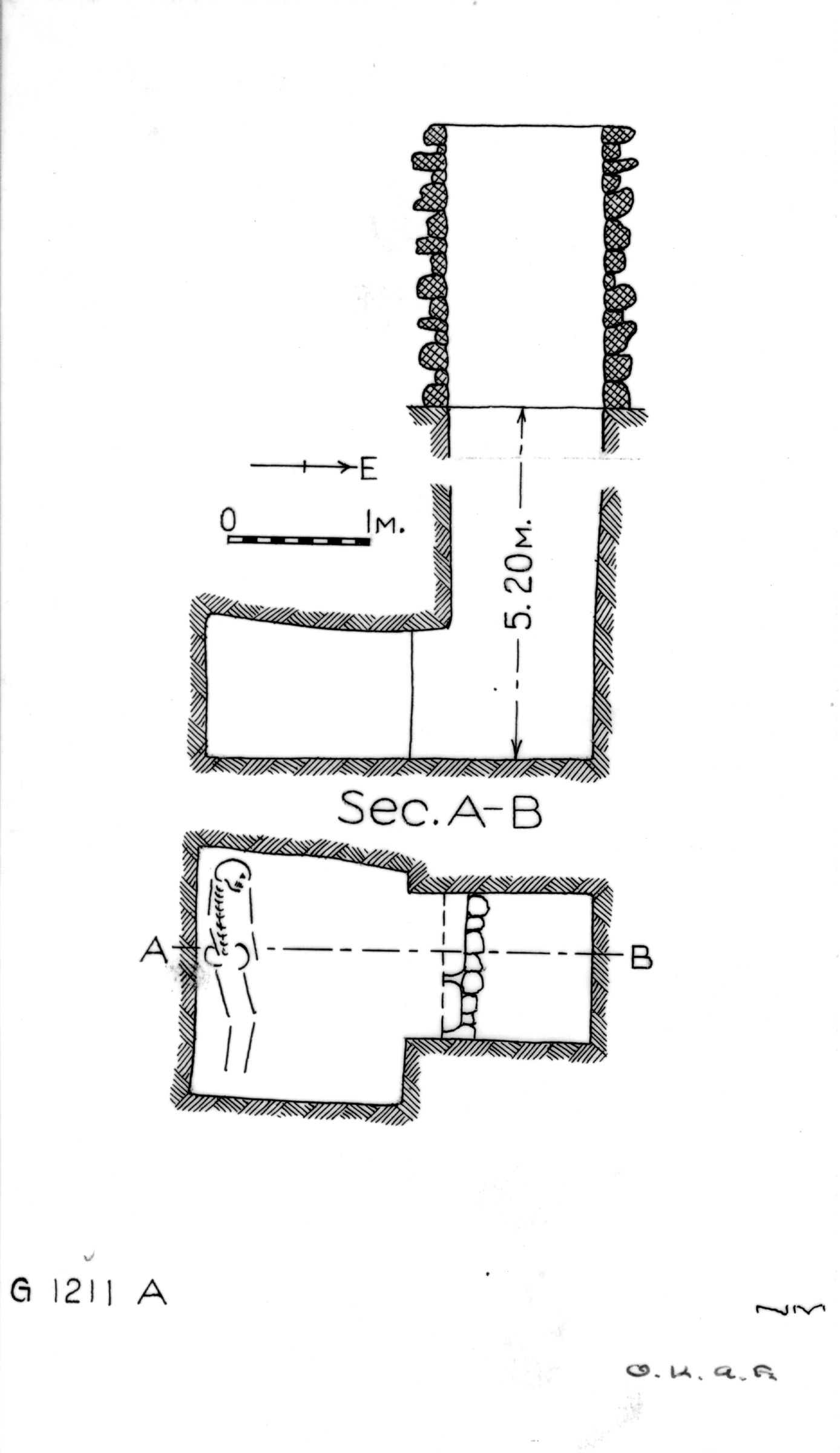 Maps and plans: G 1211, Shaft A