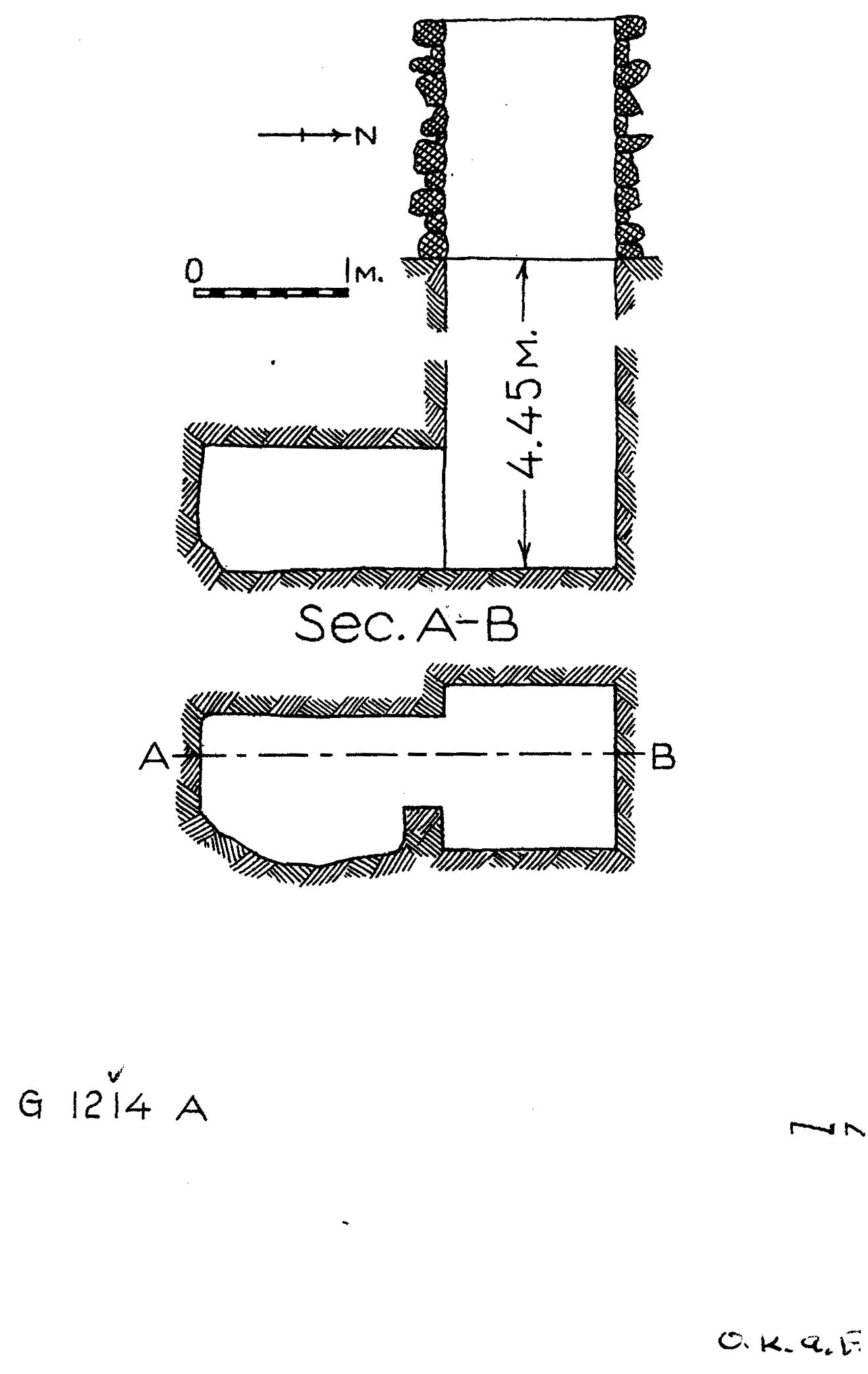 Maps and plans: G 1214, Shaft A