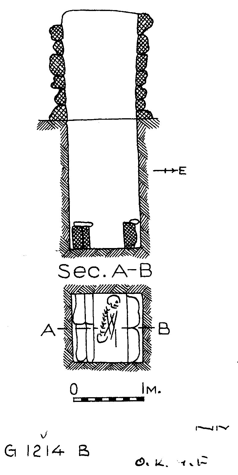 Maps and plans: G 1214, Shaft B