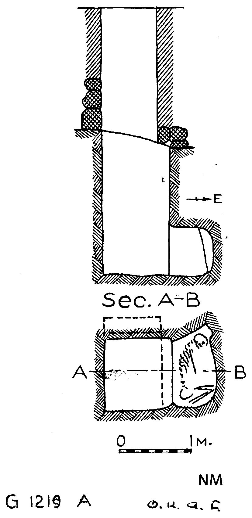 Maps and plans: G 1219, Shaft A