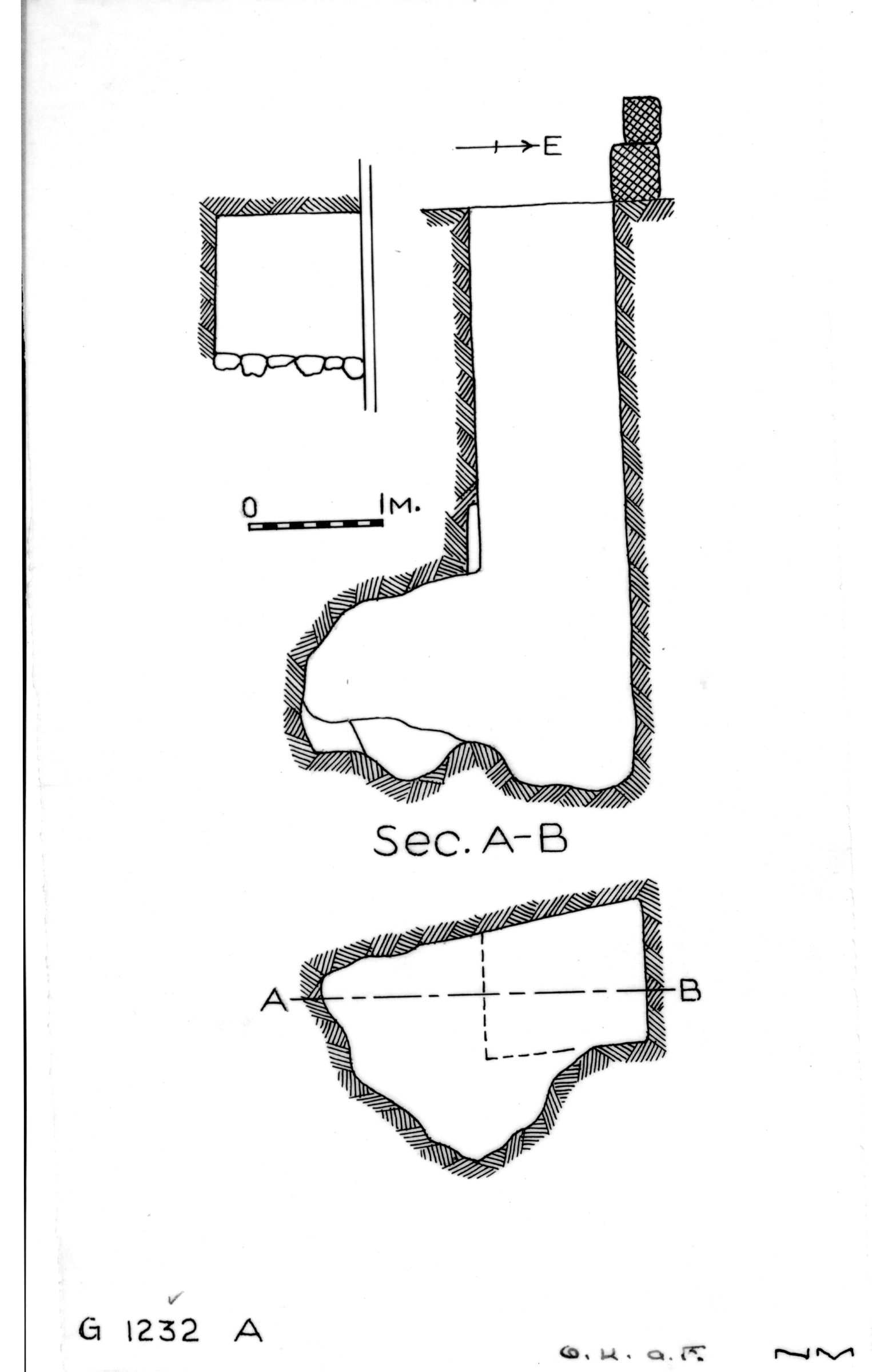 Maps and plans: G 1232, Shaft A
