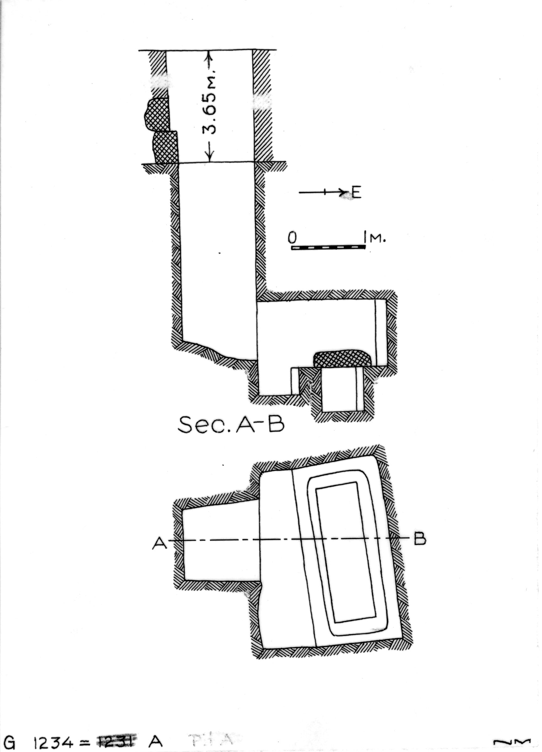 Maps and plans: G 1234, Shaft A