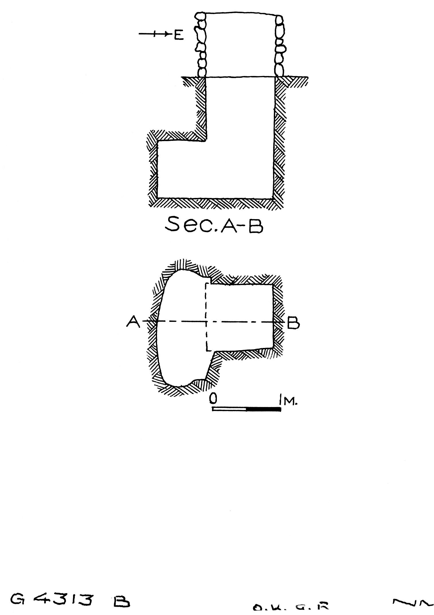 Maps and plans: G 4313, Shaft B
