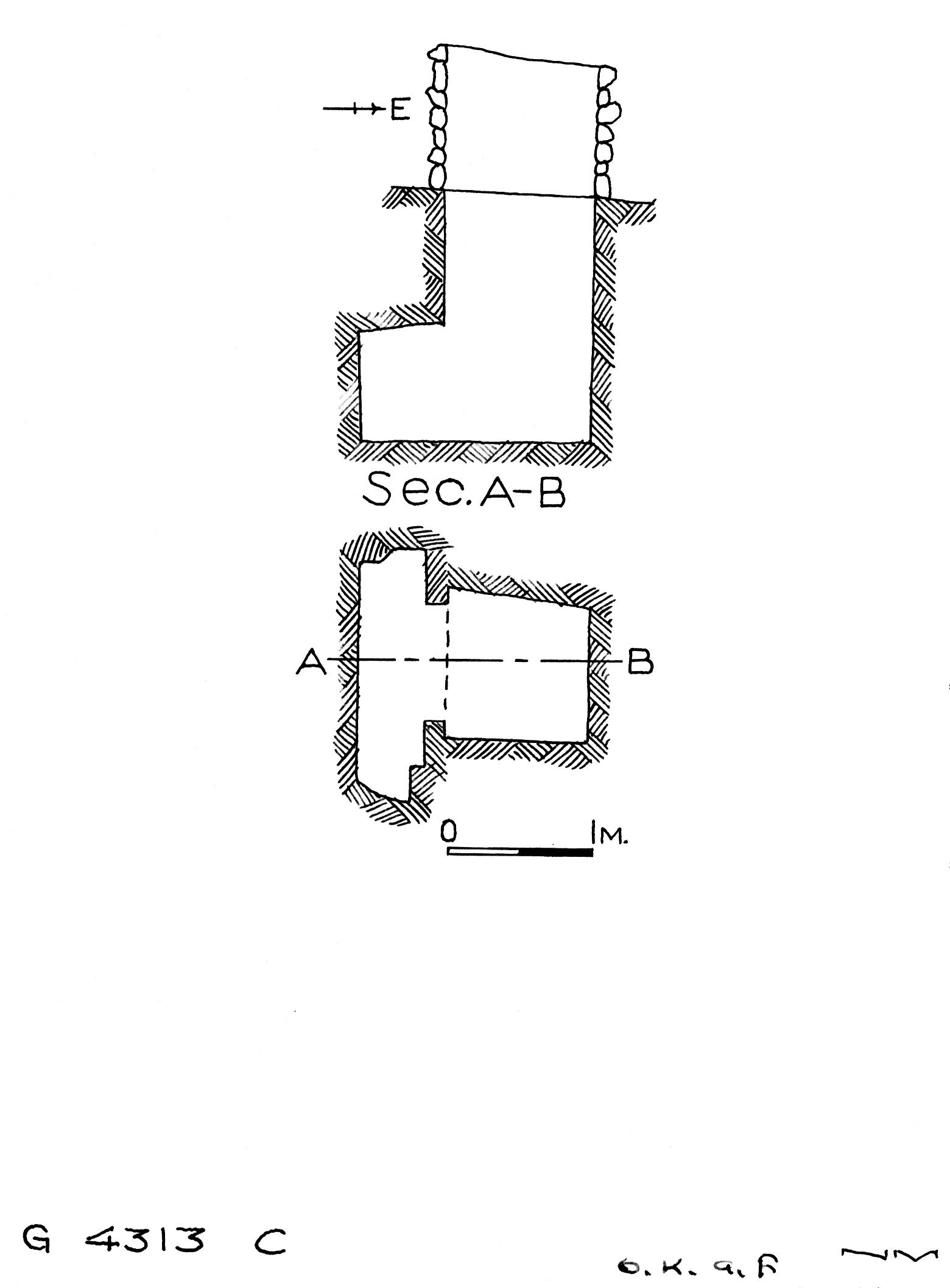 Maps and plans: G 4313, Shaft C