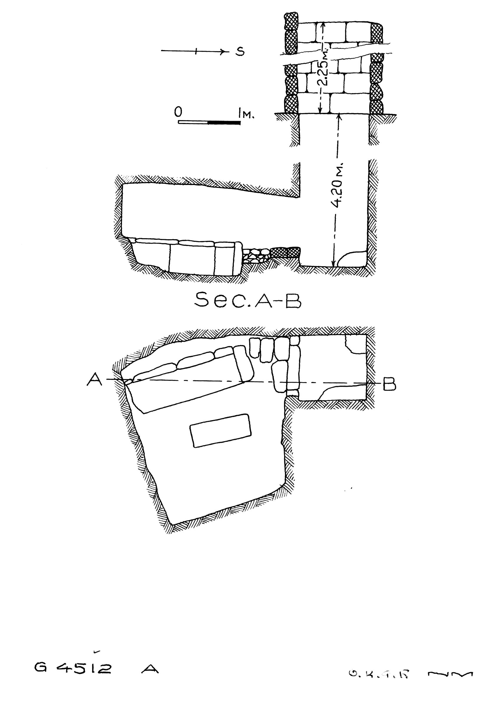 Maps and plans: G 4512, Shaft A
