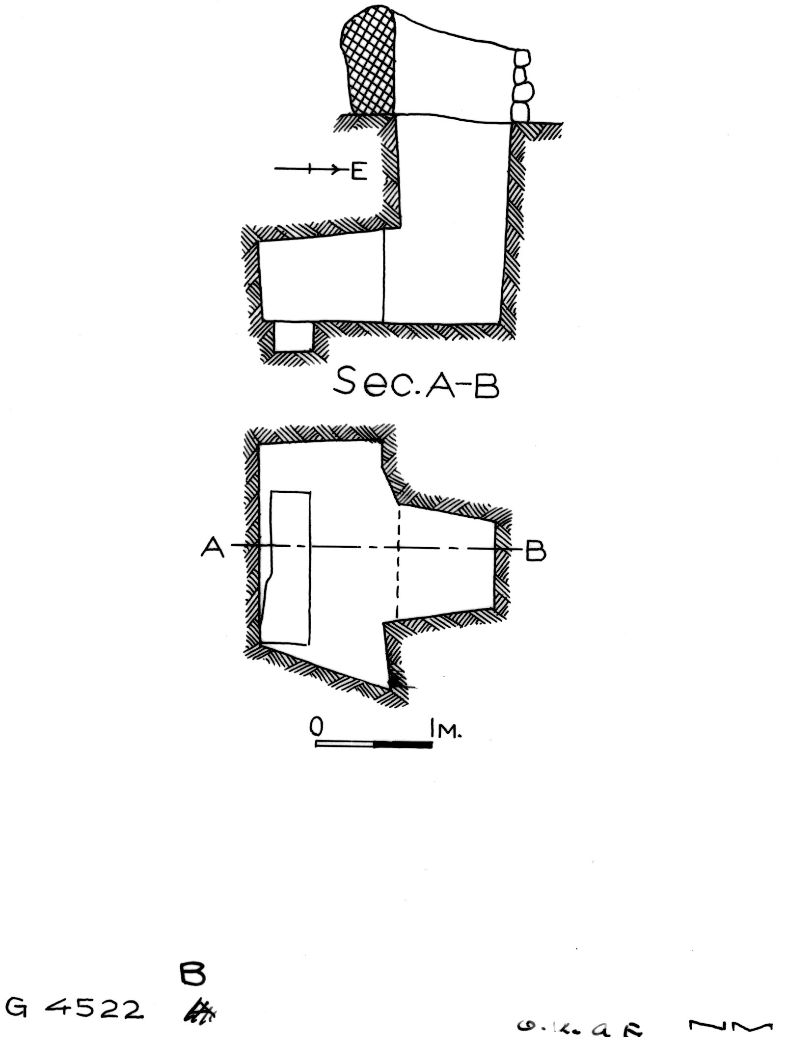 Maps and plans: G 4522, Shaft B