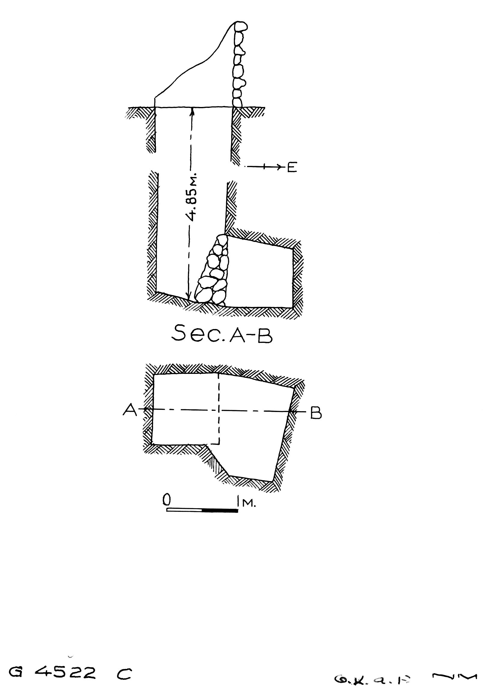 Maps and plans: G 4522, Shaft C