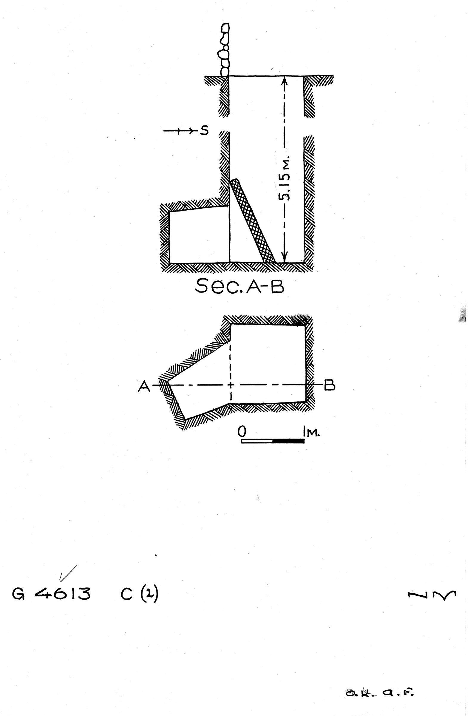 Maps and plans: G 4613, Shaft C2