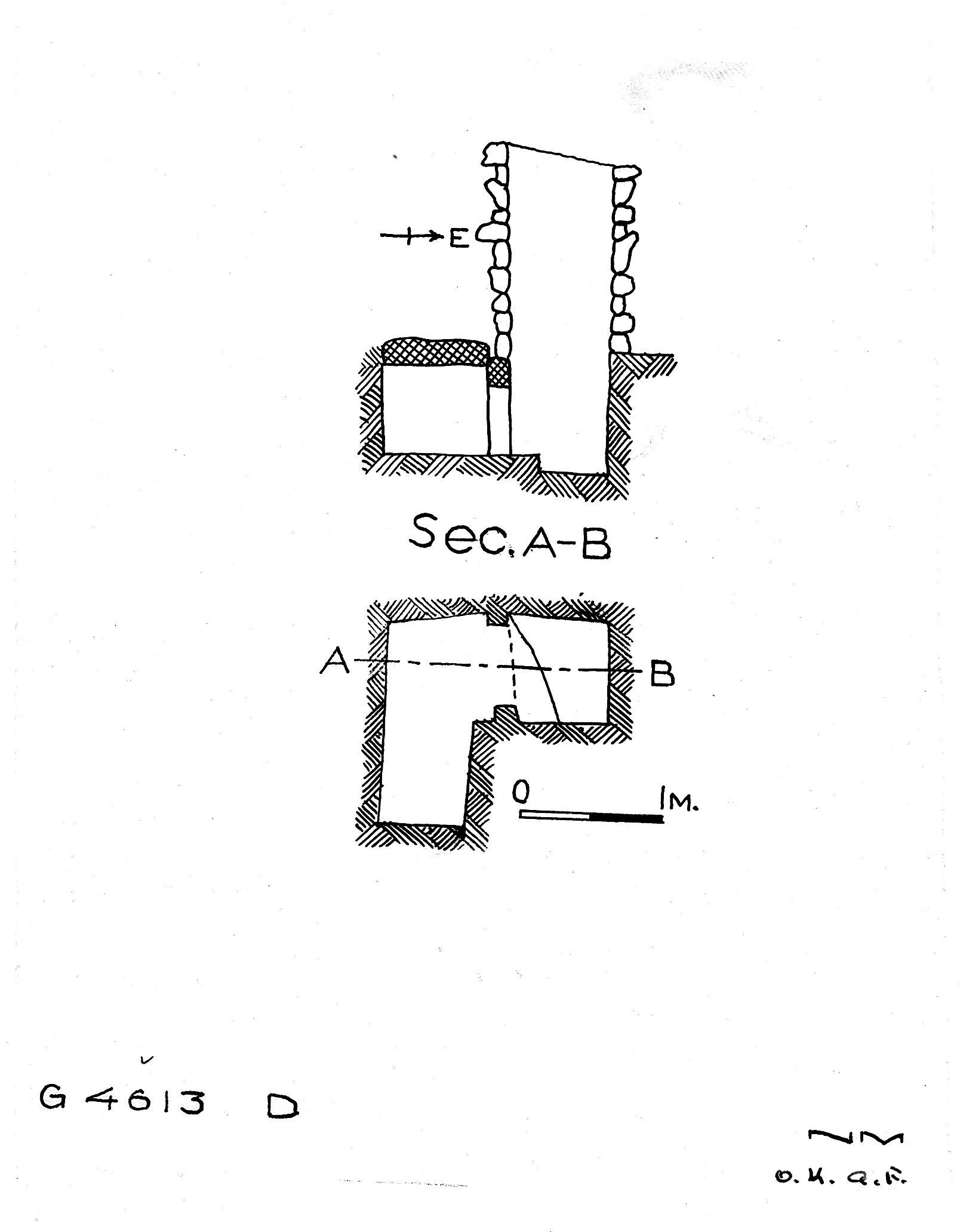 Maps and plans: G 4613, Shaft D