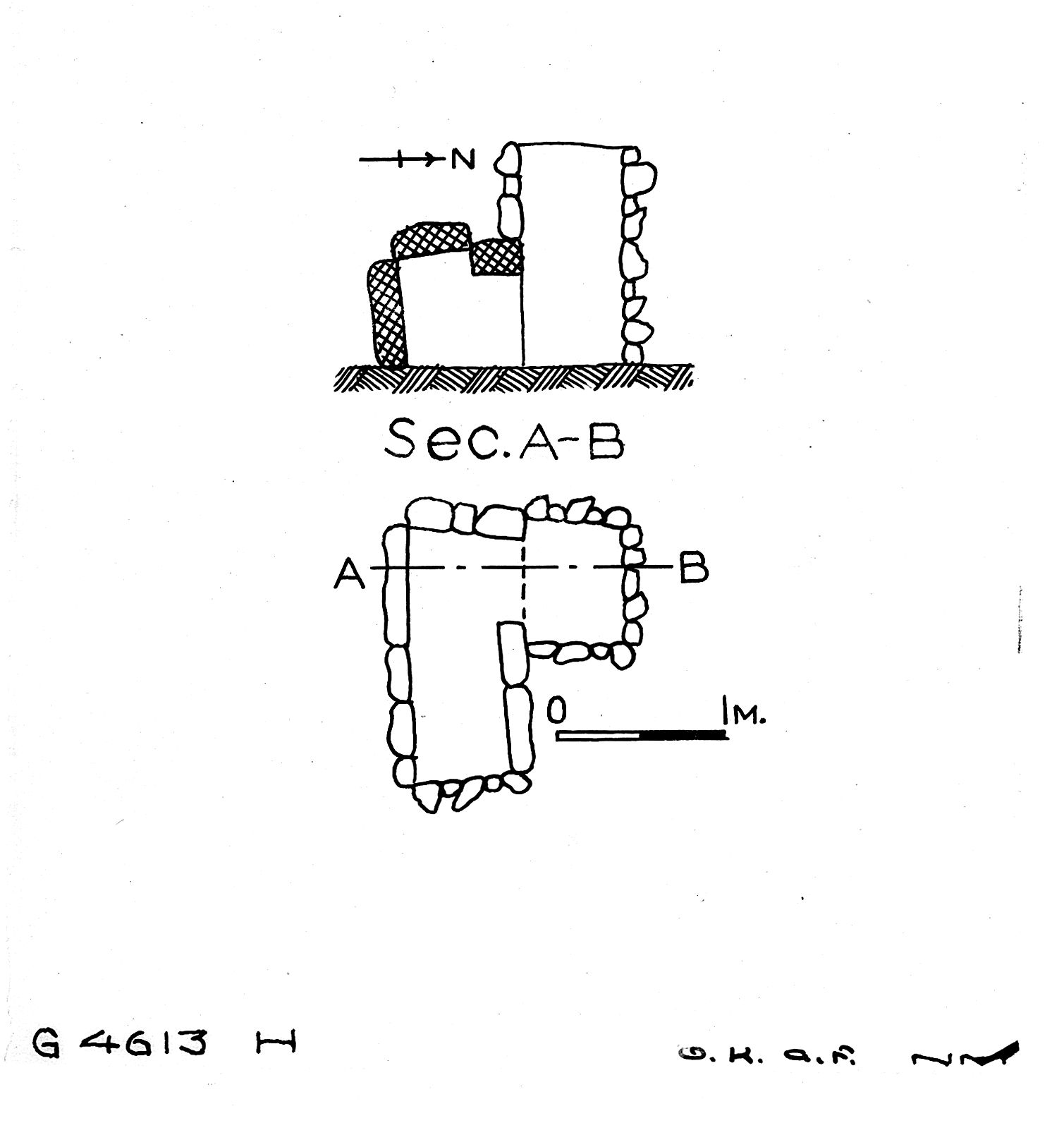 Maps and plans: G 4613, Shaft H