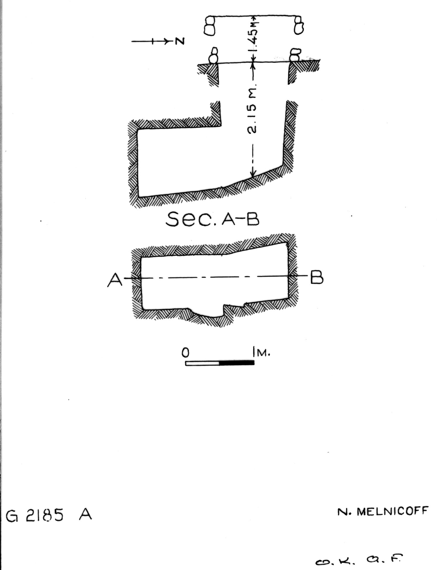 Maps and plans: G 2185, Shaft A