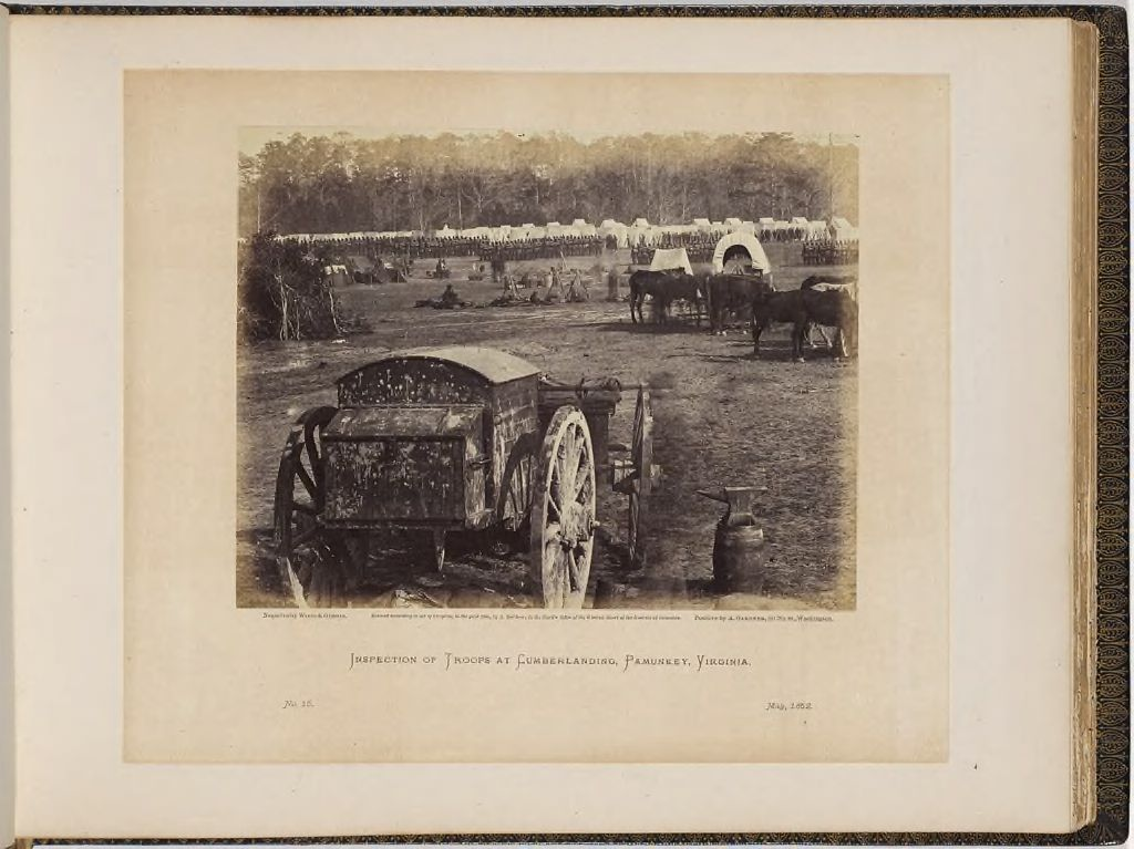 Inspection Of Troops At Cumberland Landing, Pamunkey, Virginia