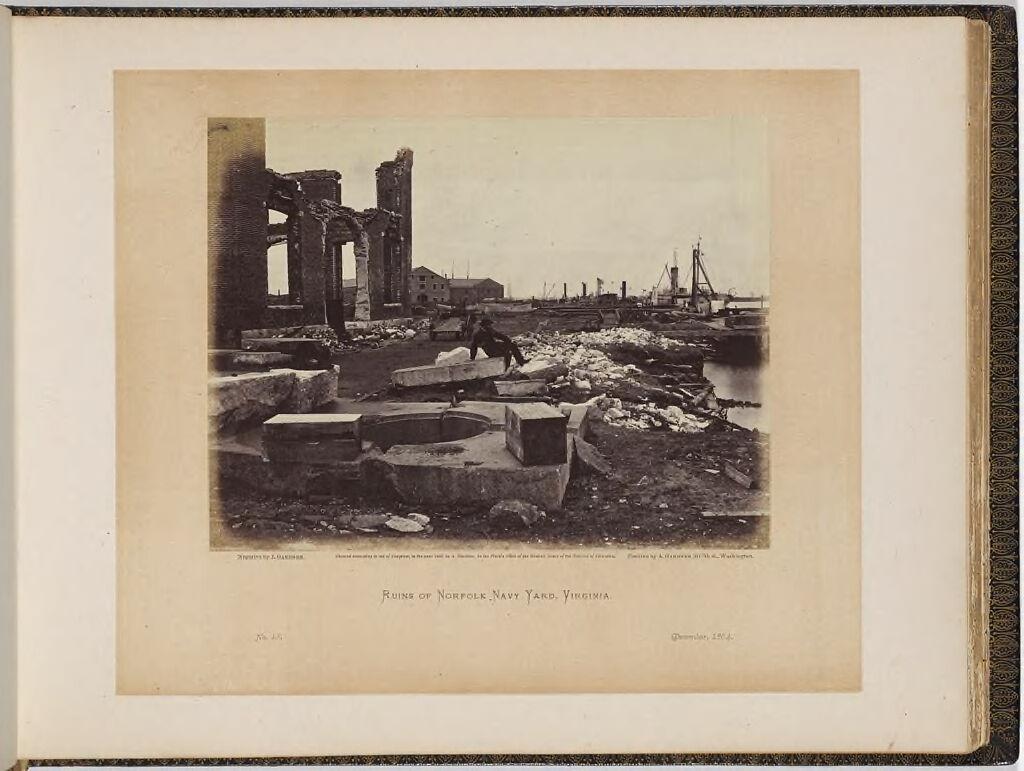 Ruins Of Norfolk Navy Yard, Virginia