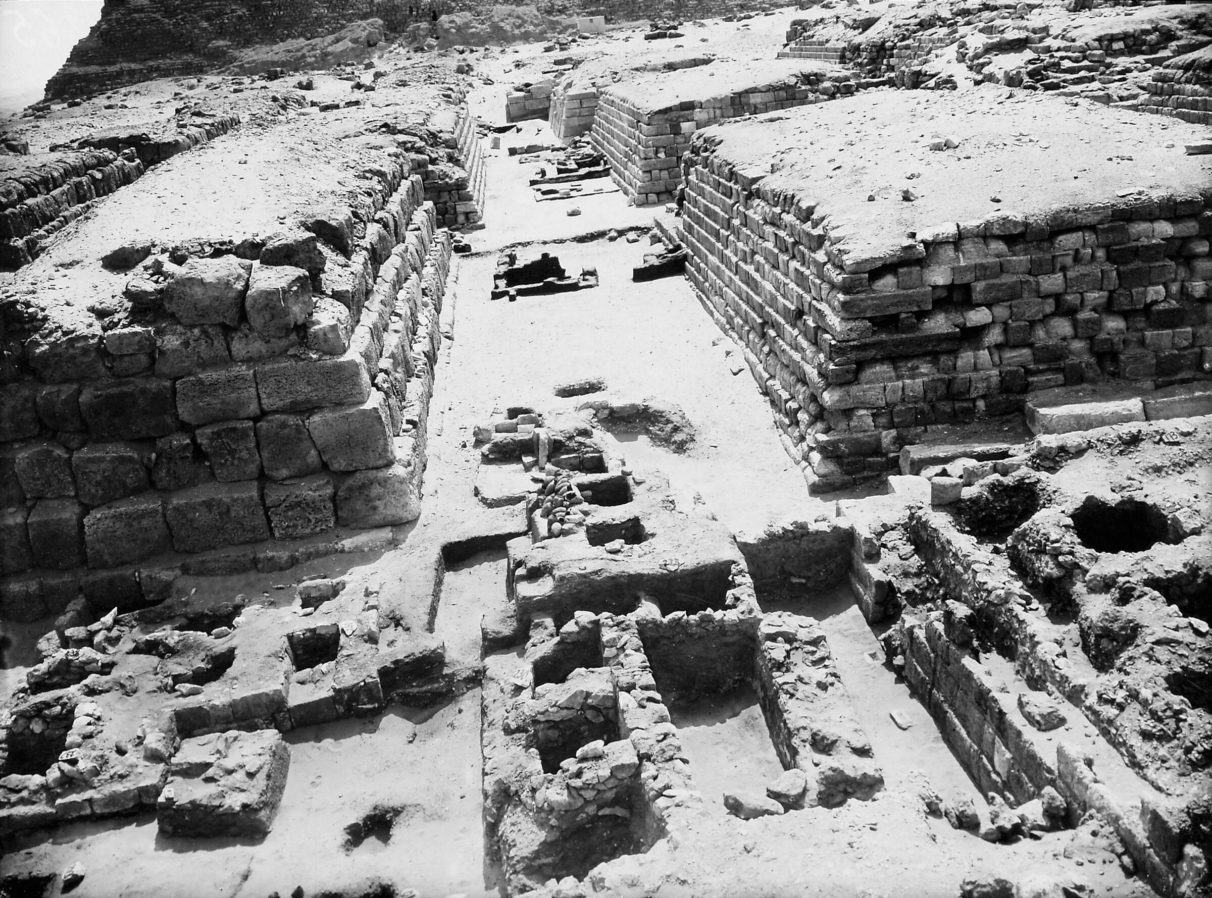 Western Cemetery: Site: Giza; View: D 112,  D 113, D 114, D 115, G 4260, G 4360