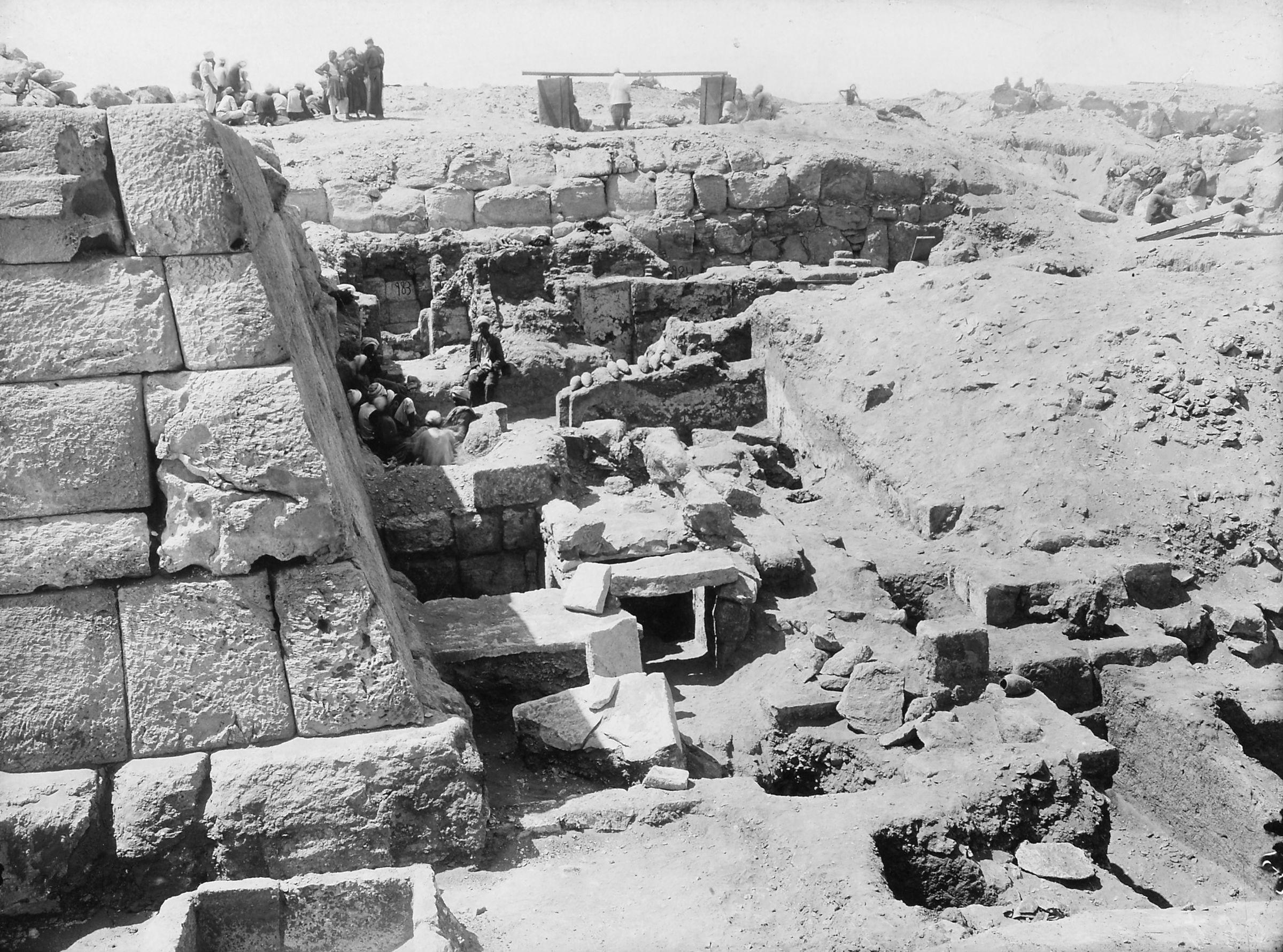 Western Cemetery: Site: Giza; View: G 4940, G 4950, G 4941, S 984, G 4840