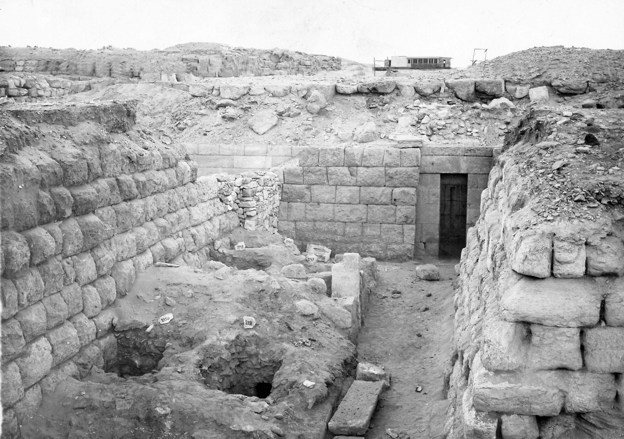 Western Cemetery: Site: Giza; View: G 4970, G 4980, Irienre & Ankhemre (G 2156b, G 2156c), G 2156