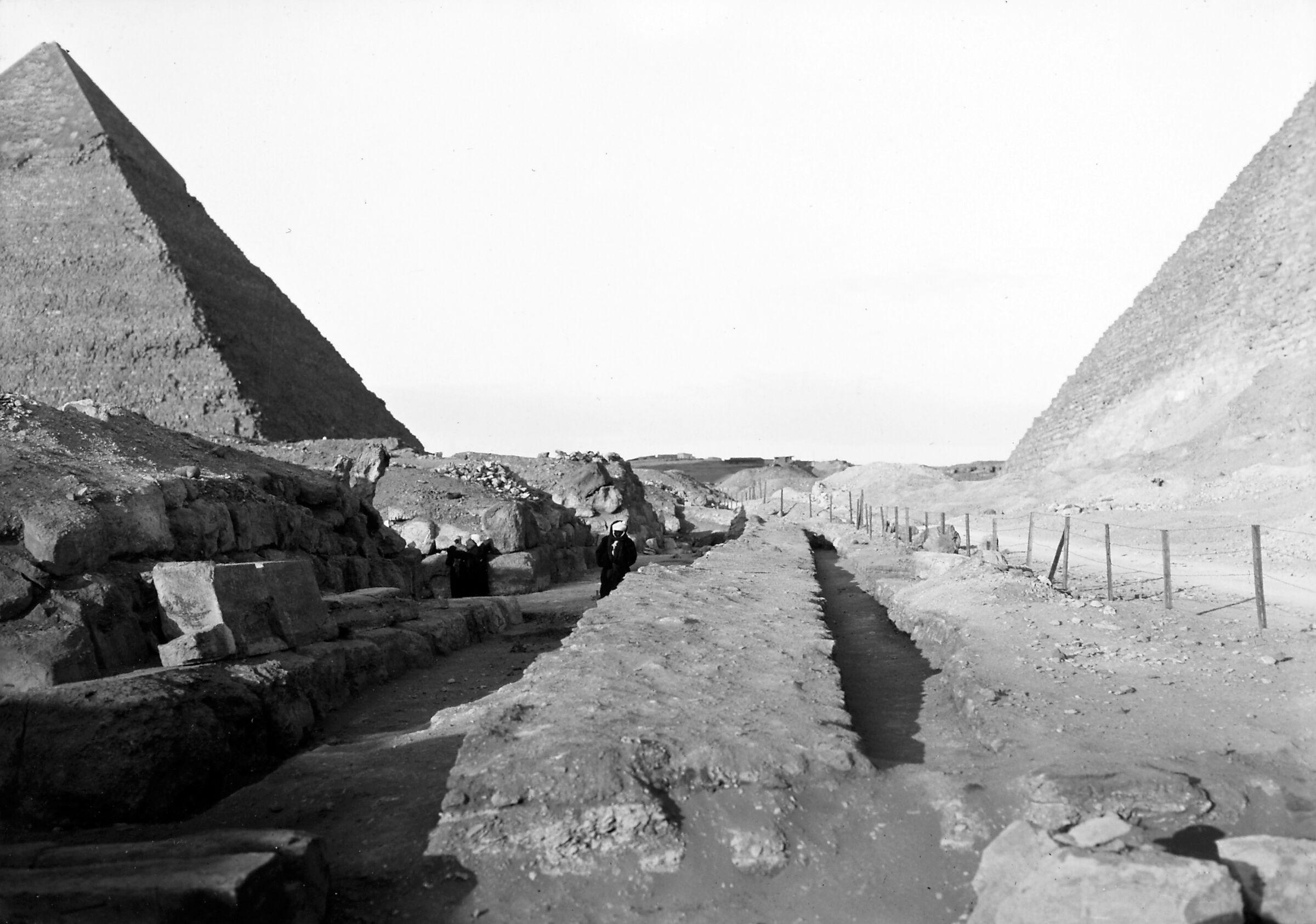 Khufu Pyramid Complex: Site: Giza; View: Khufu pyramid, Mastaba IX