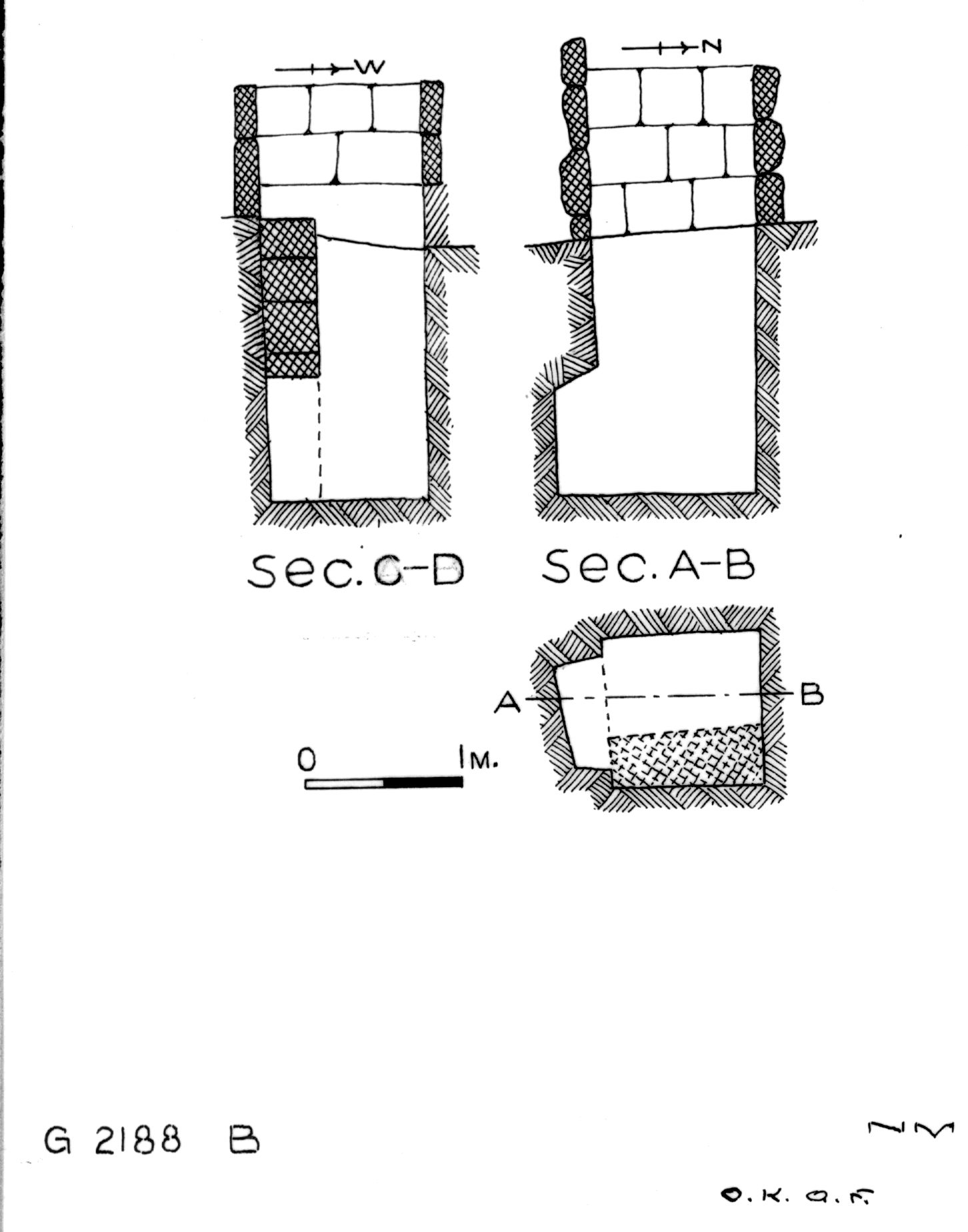 Maps and plans: G 2188, Shaft B