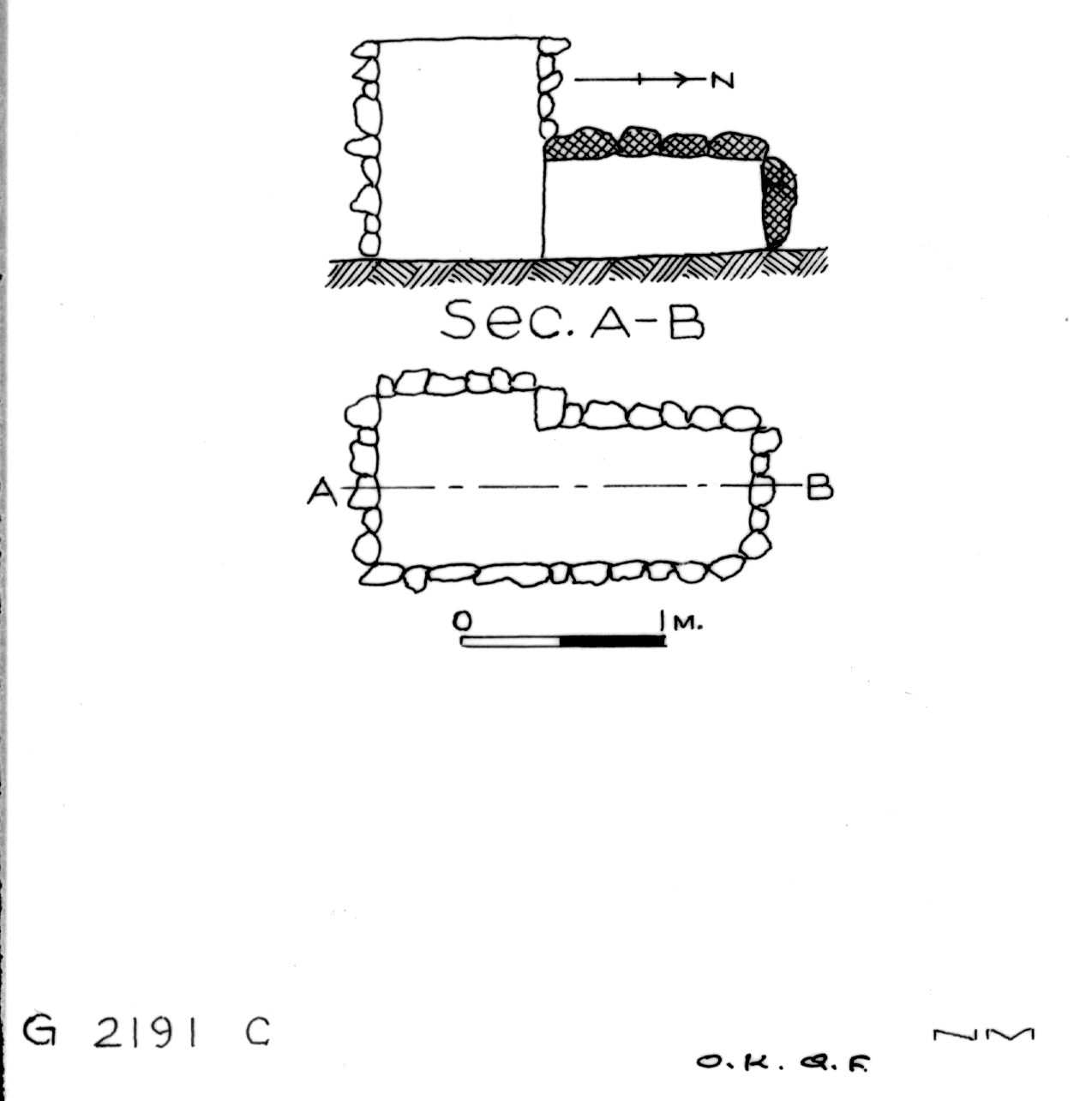 Maps and plans: G 2191, Shaft C