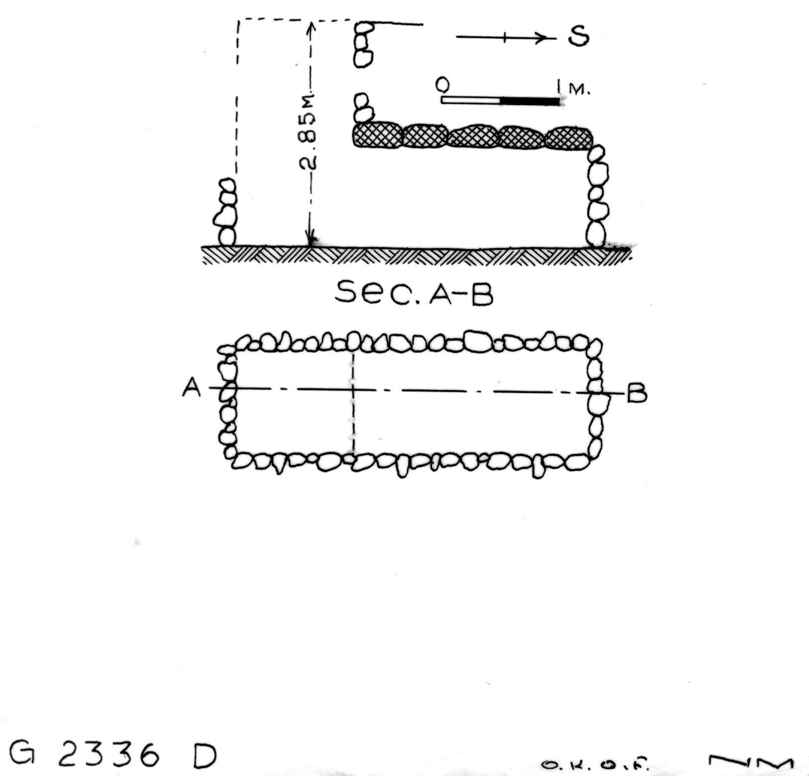 Maps and plans: G 2336, Shaft D