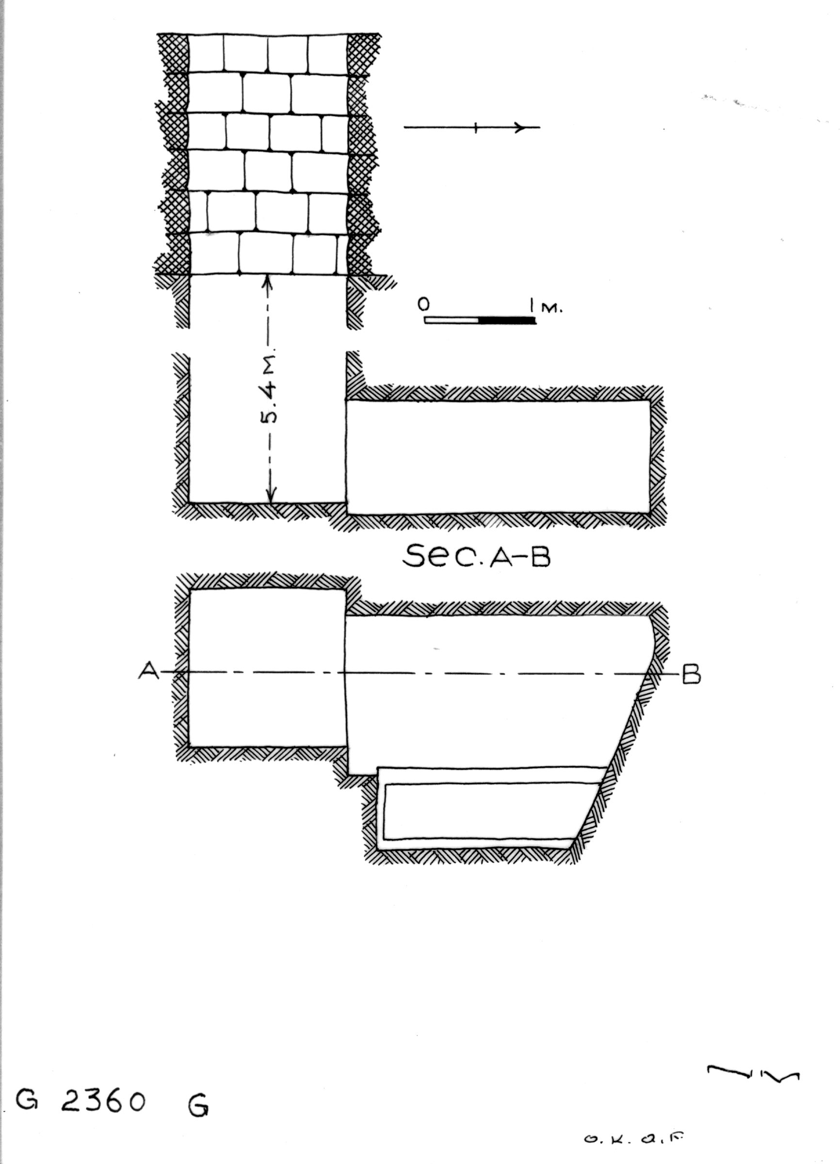 Maps and plans: G 2360, Shaft G