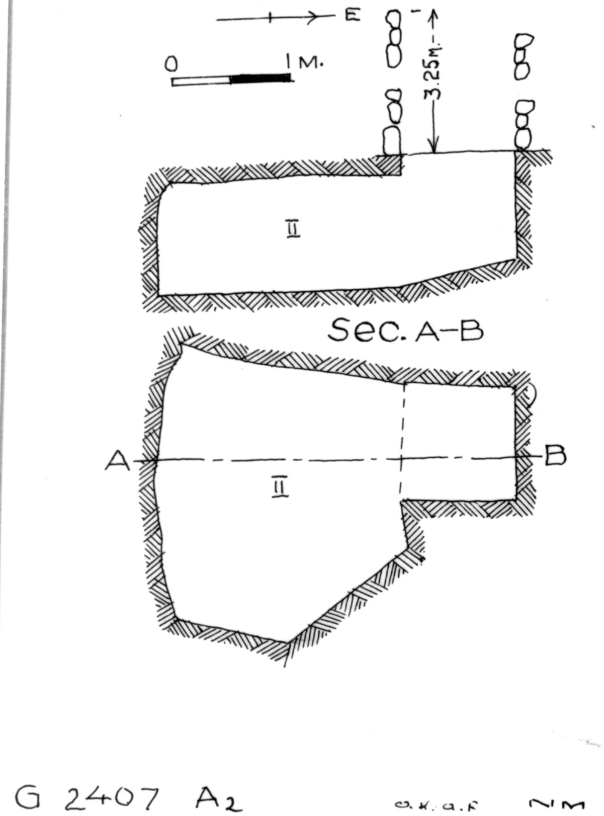 Maps and plans: G 2407, Shaft A2