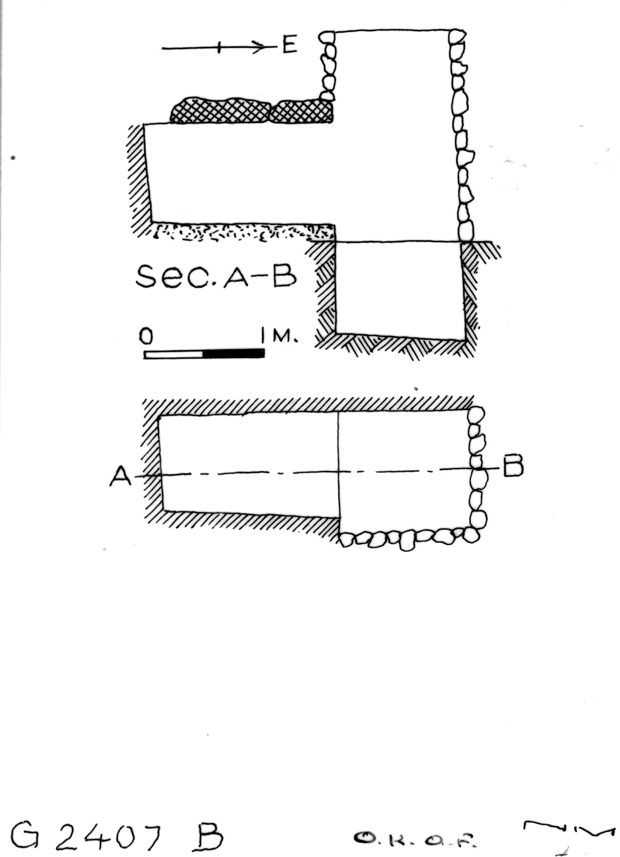 Maps and plans: G 2407, Shaft B