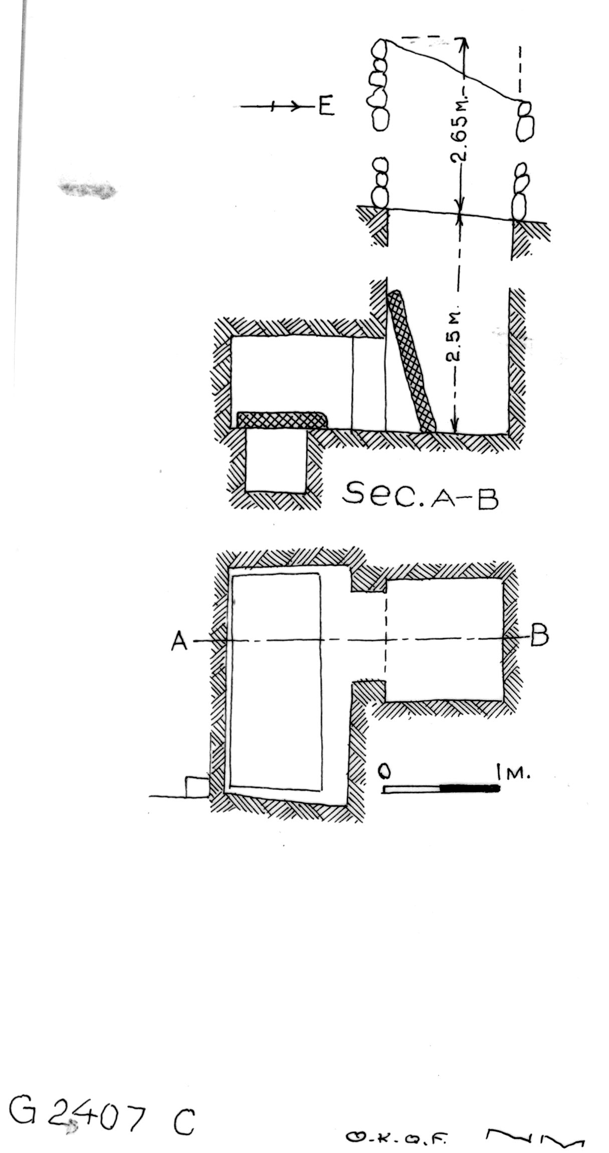 Maps and plans: G 2407, Shaft C