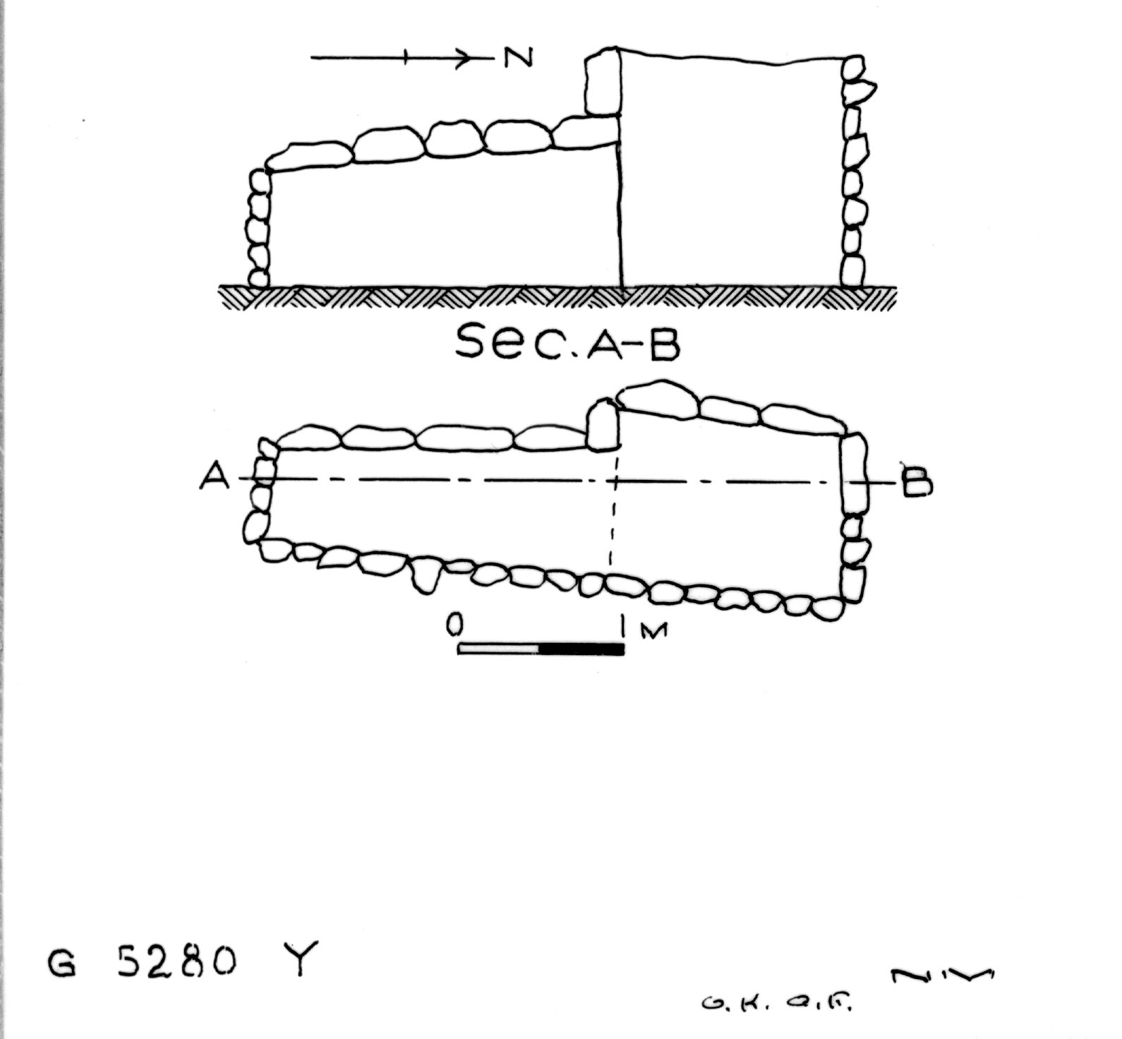 Maps and plans: G 2320 = G 5280, Shaft Y