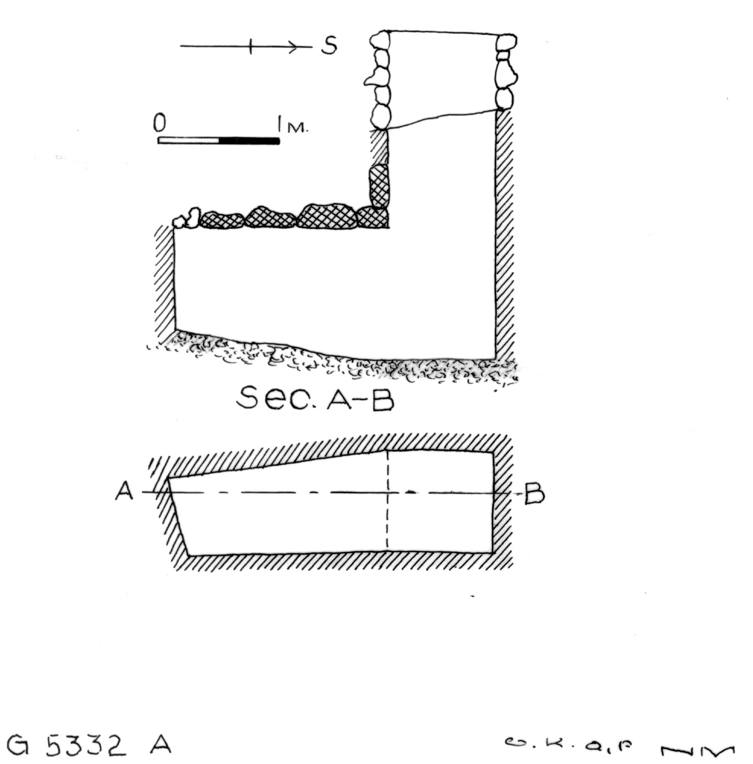 Maps and plans: G 5332, Shaft A (S 806b)