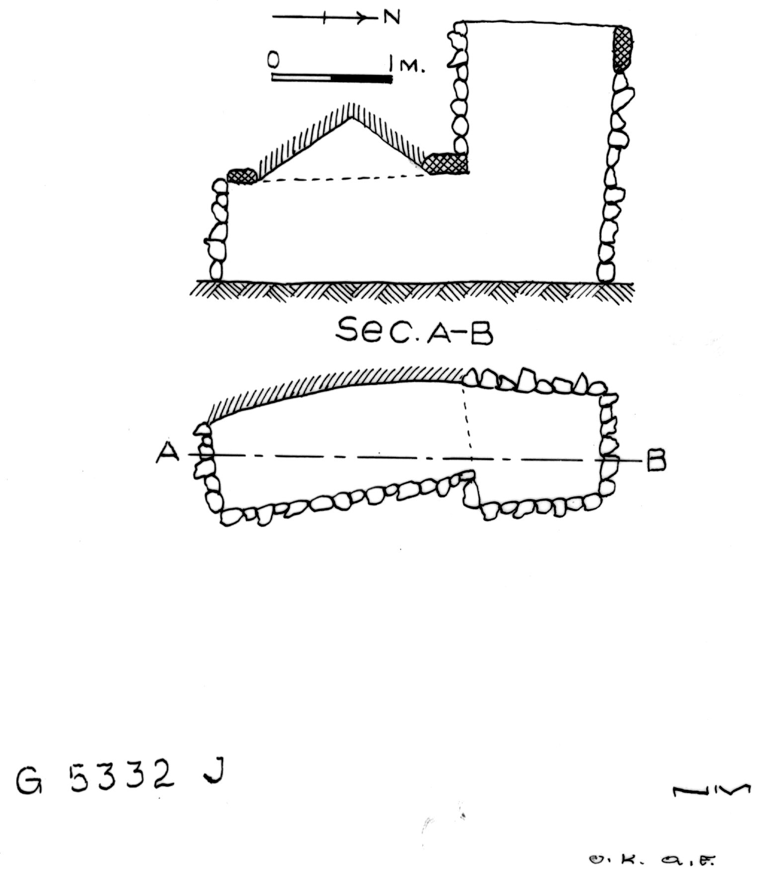 Maps and plans: G 5332, Shaft J (S 805)