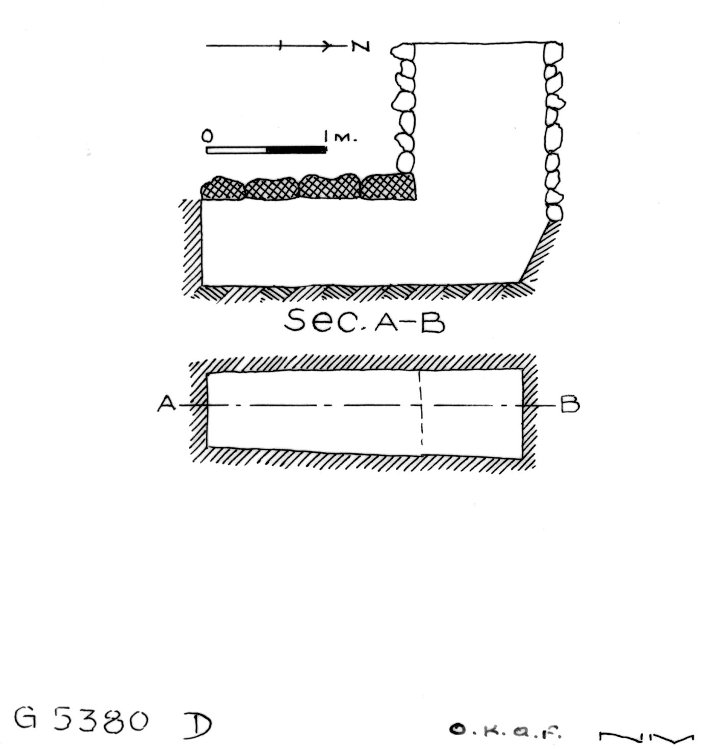 Maps and plans: G 2330 = G 5380, Shaft D