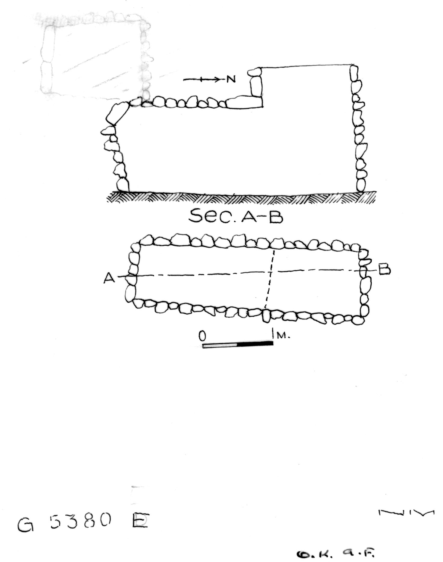 Maps and plans: G 2330 = G 5380, Shaft E