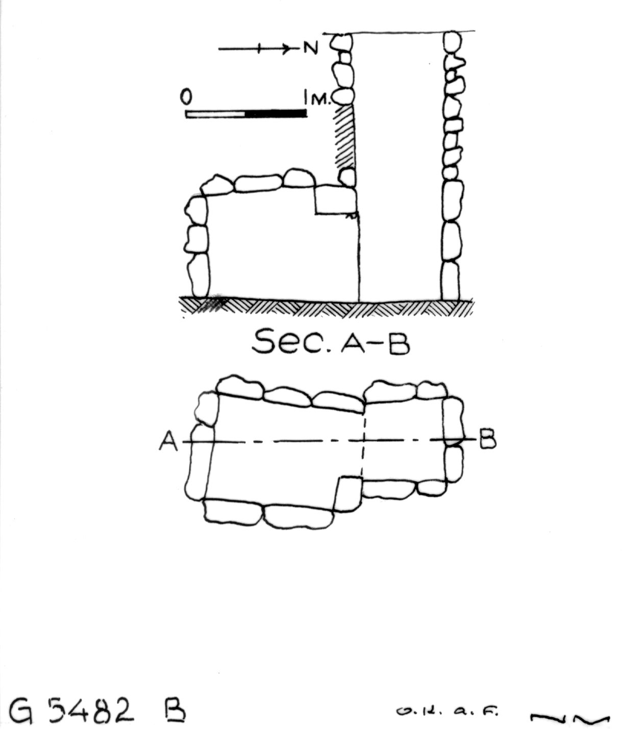Maps and plans: G 5482, Shaft B