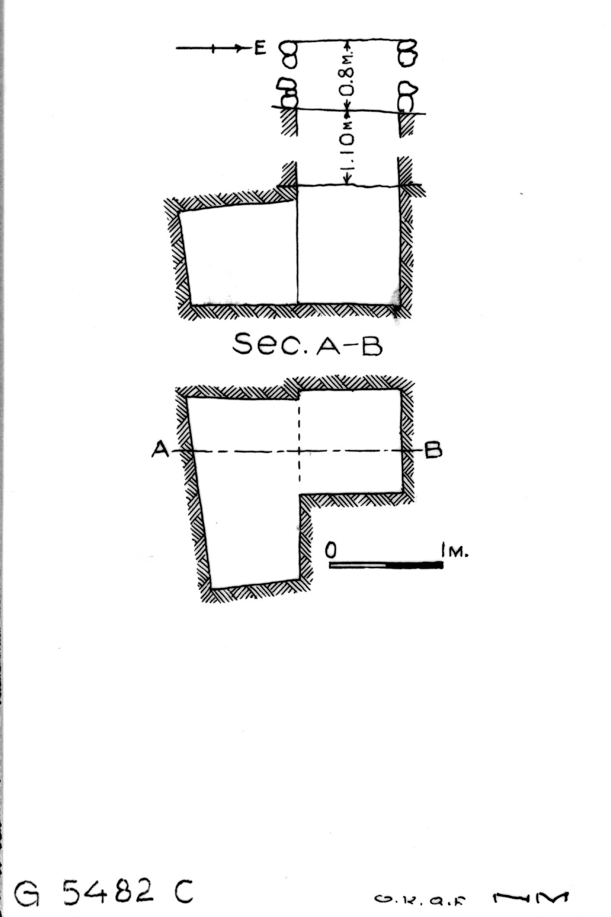 Maps and plans: G 5482, Shaft C