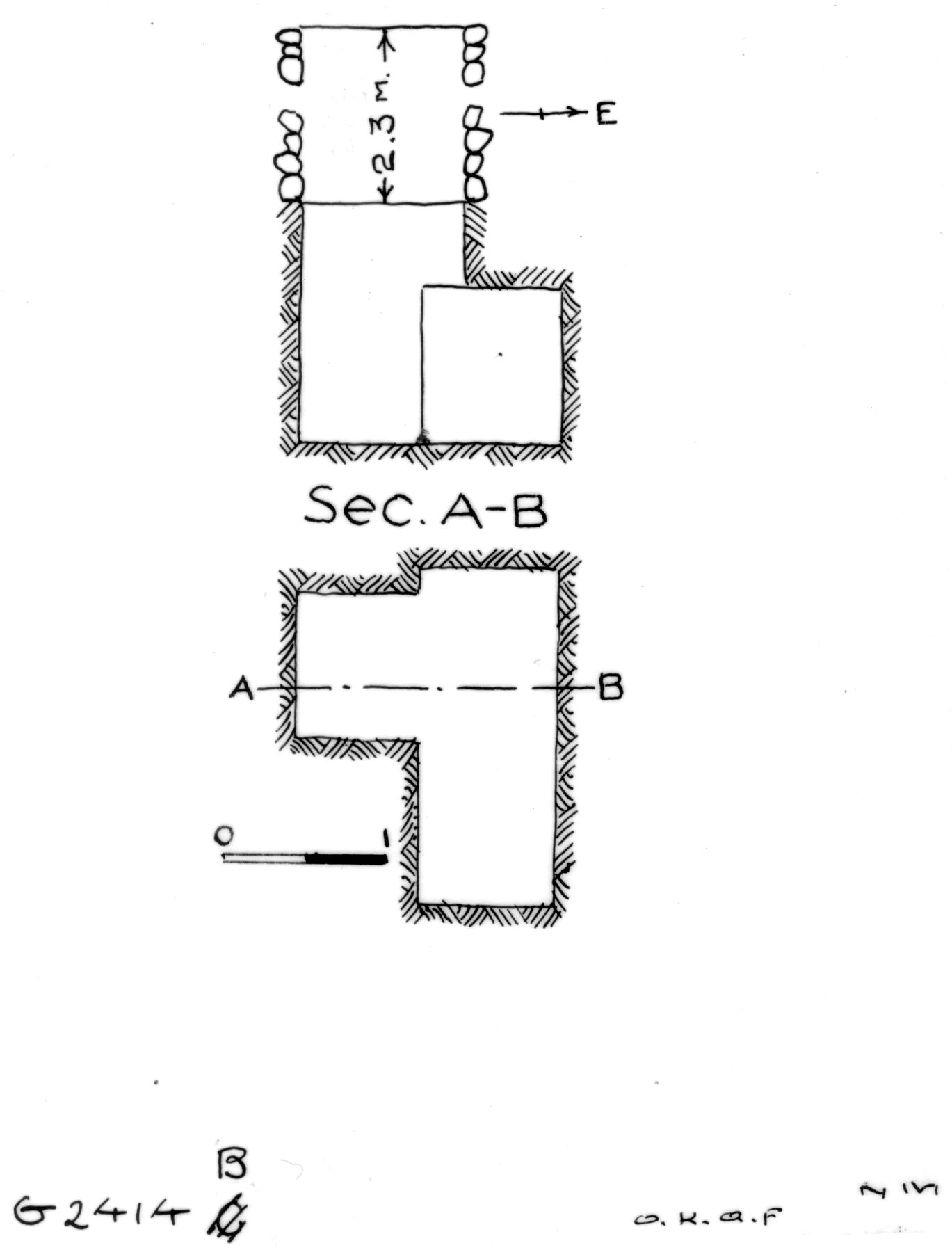 Maps and plans: G 2414, Shaft B