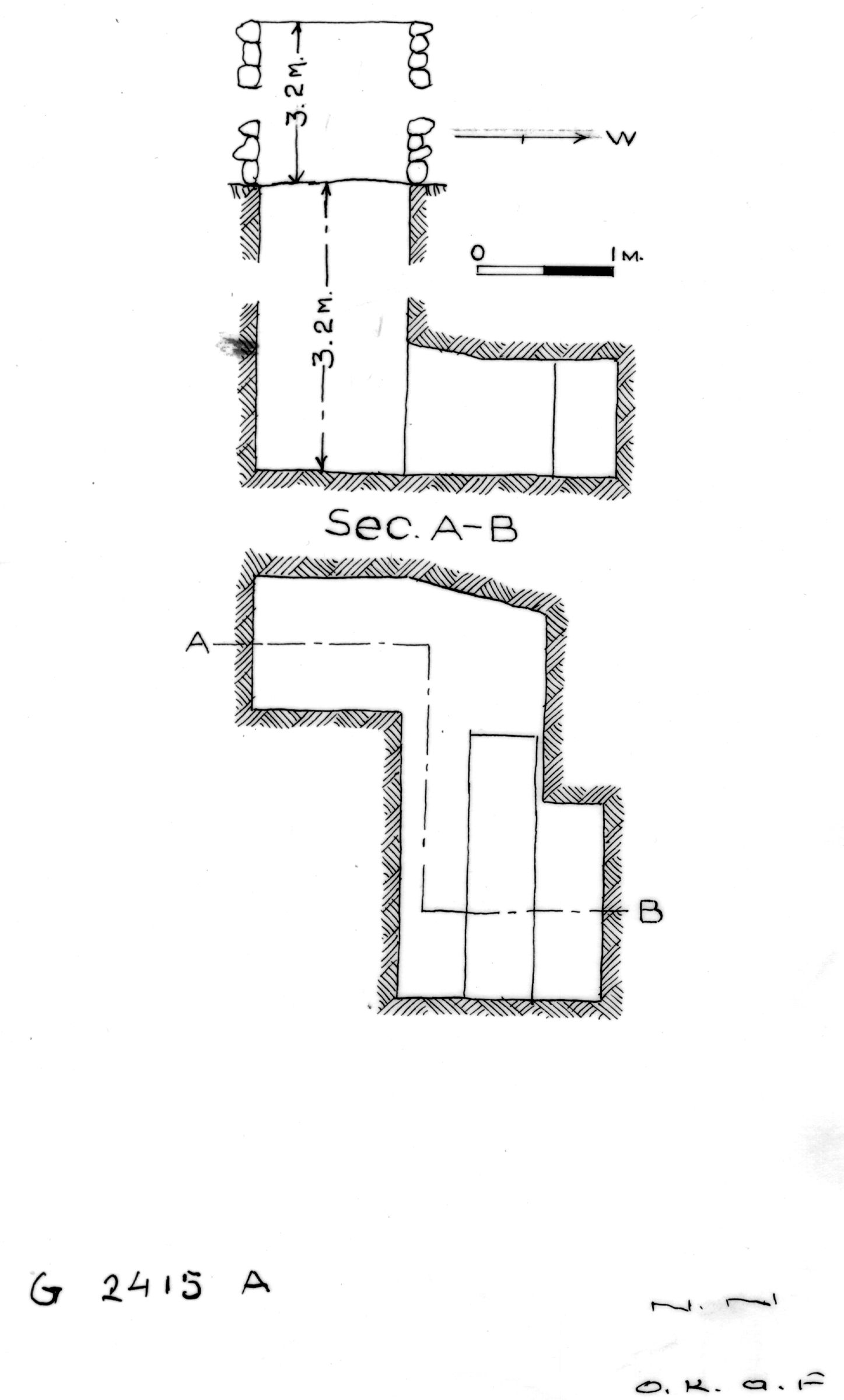 Maps and plans: G 2415, Shaft A