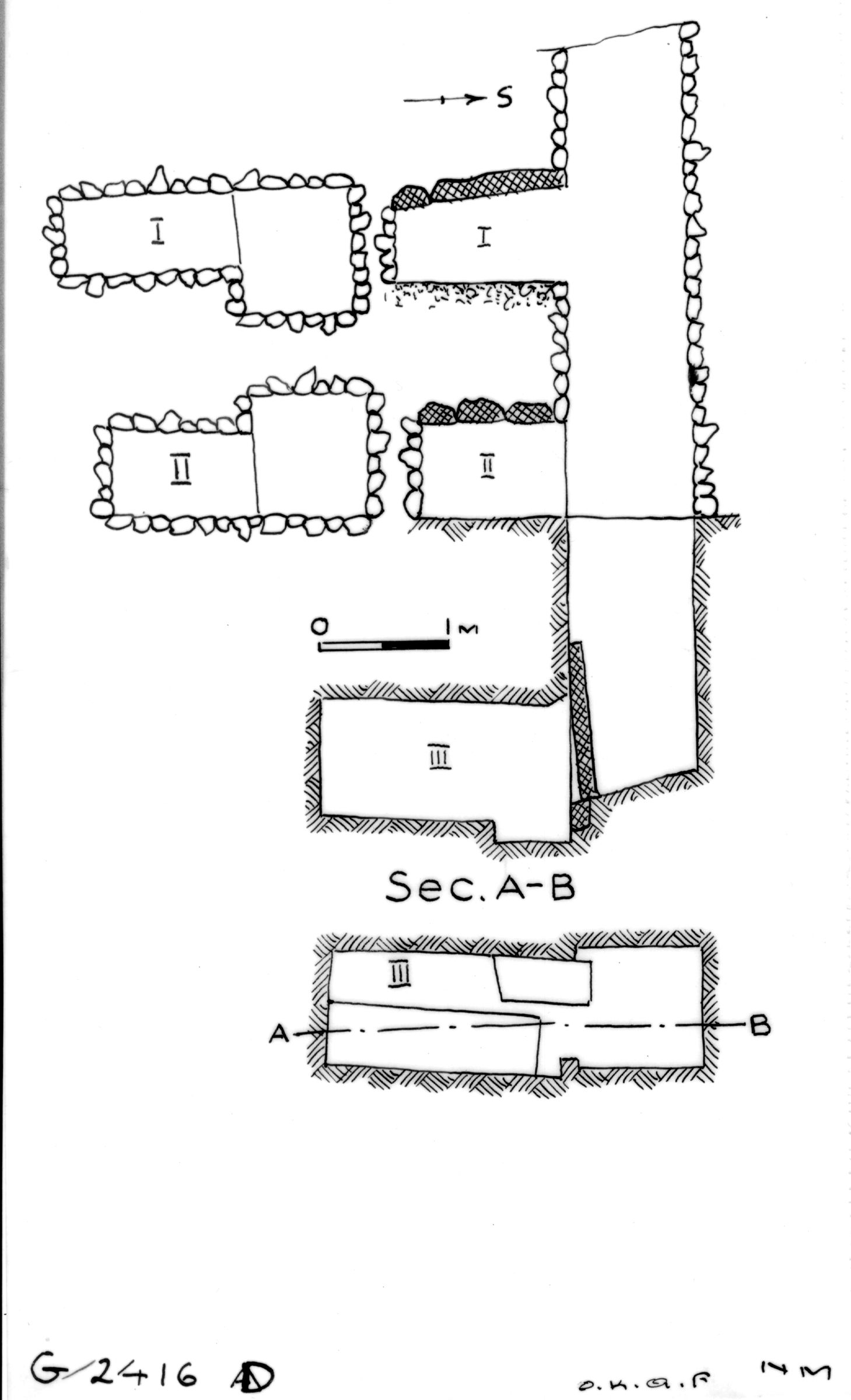 Maps and plans: G 2416, Shaft D