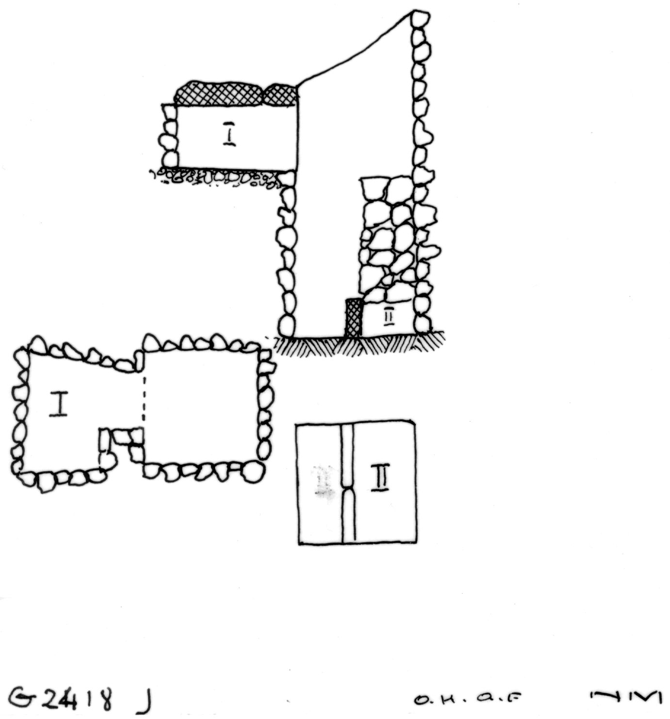 Maps and plans: G 2418, Shaft J