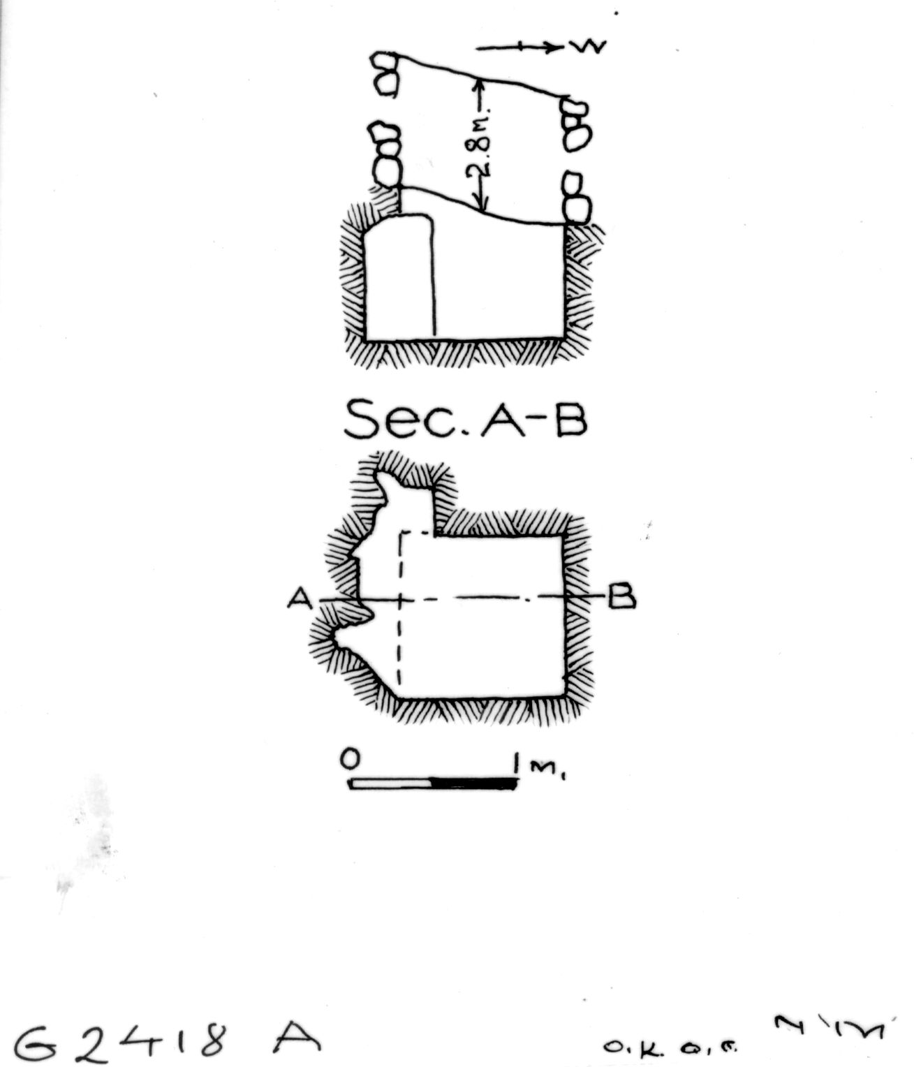 Maps and plans: G 2418, Shaft A