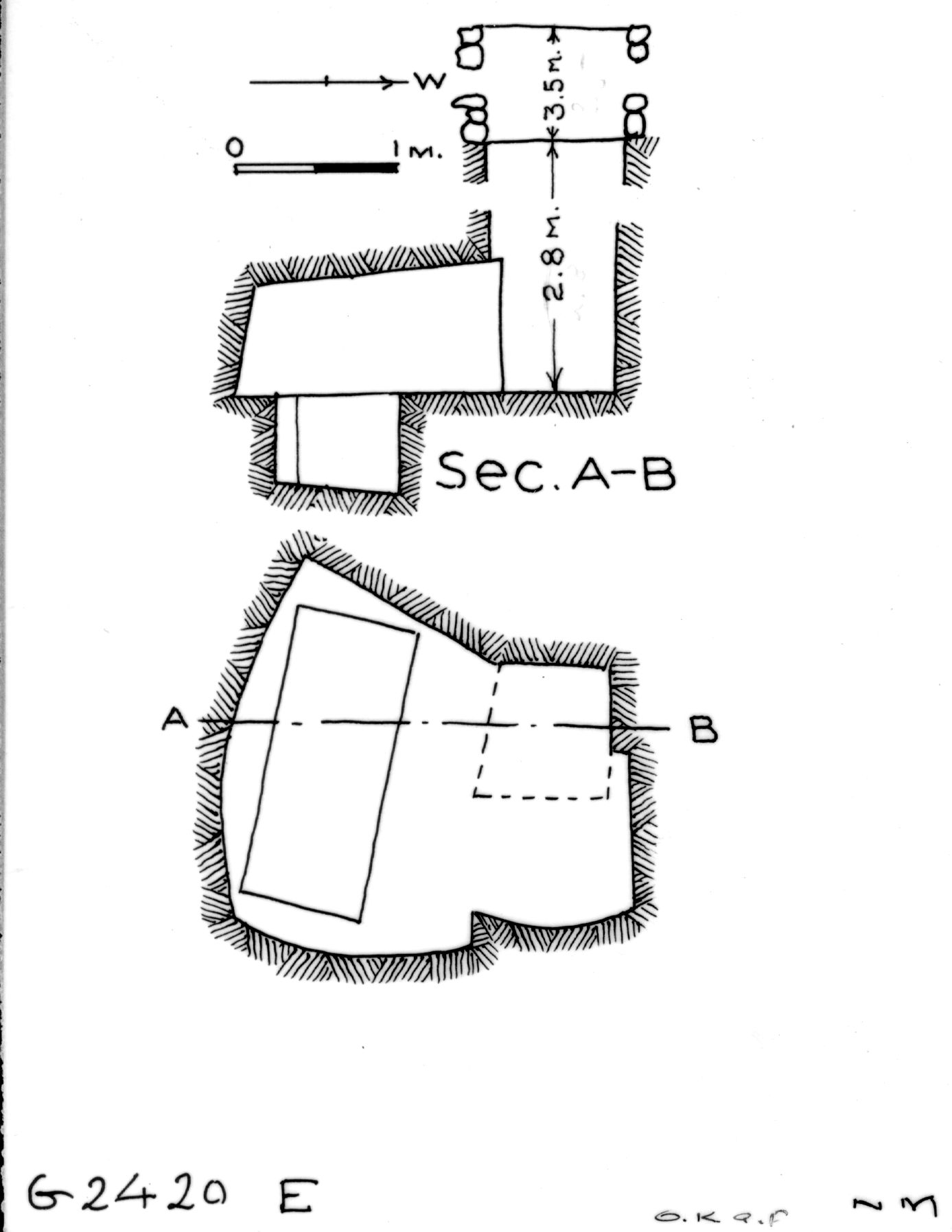 Maps and plans: G 2420, Shaft E