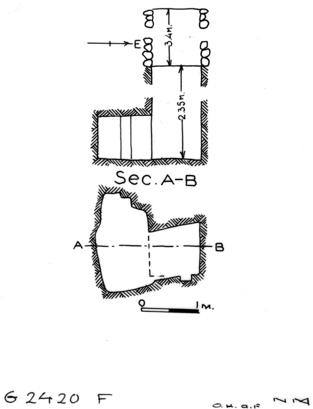 Maps and plans: G 2420, Shaft F