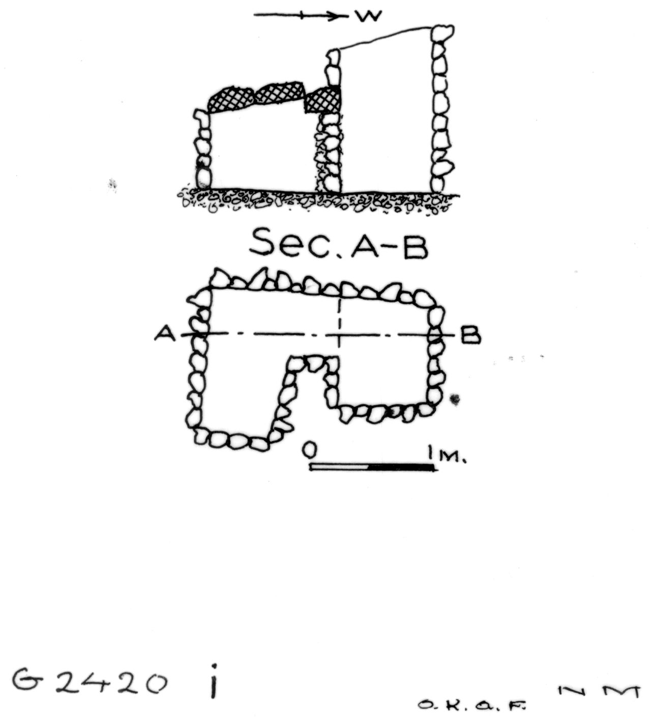 Maps and plans: G 2420, Shaft I