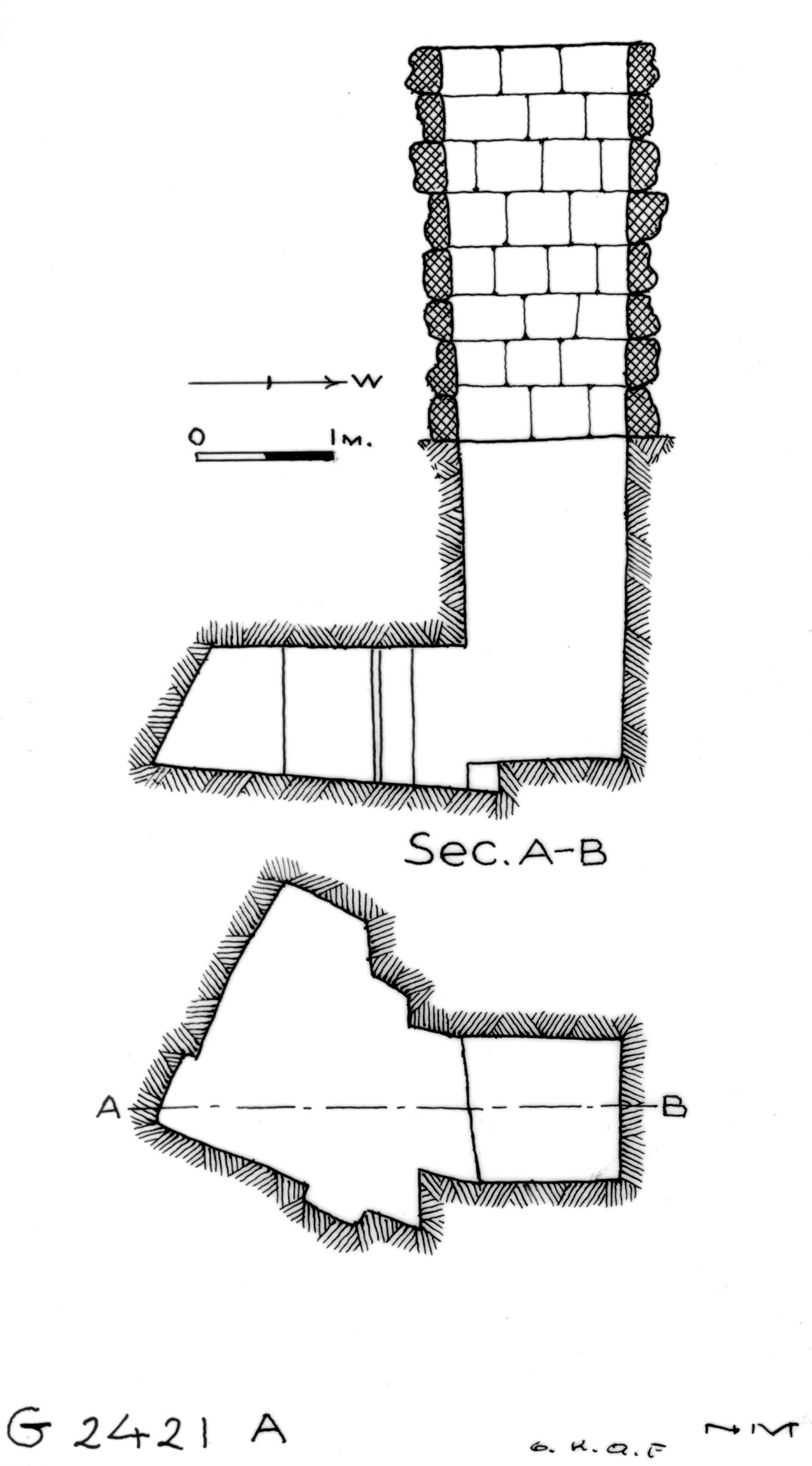 Maps and plans: G 2421, Shaft A