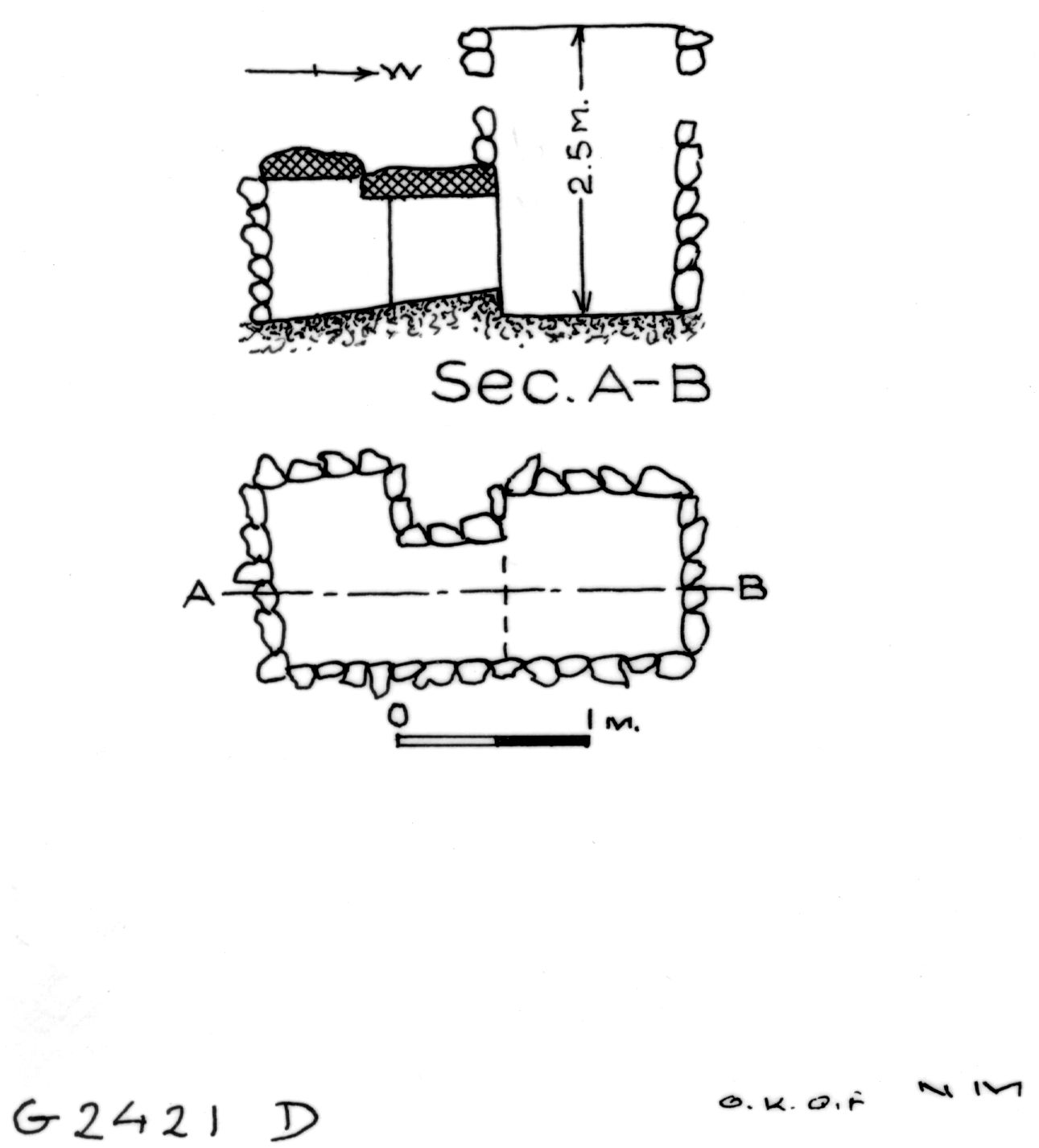 Maps and plans: G 2421, Shaft D
